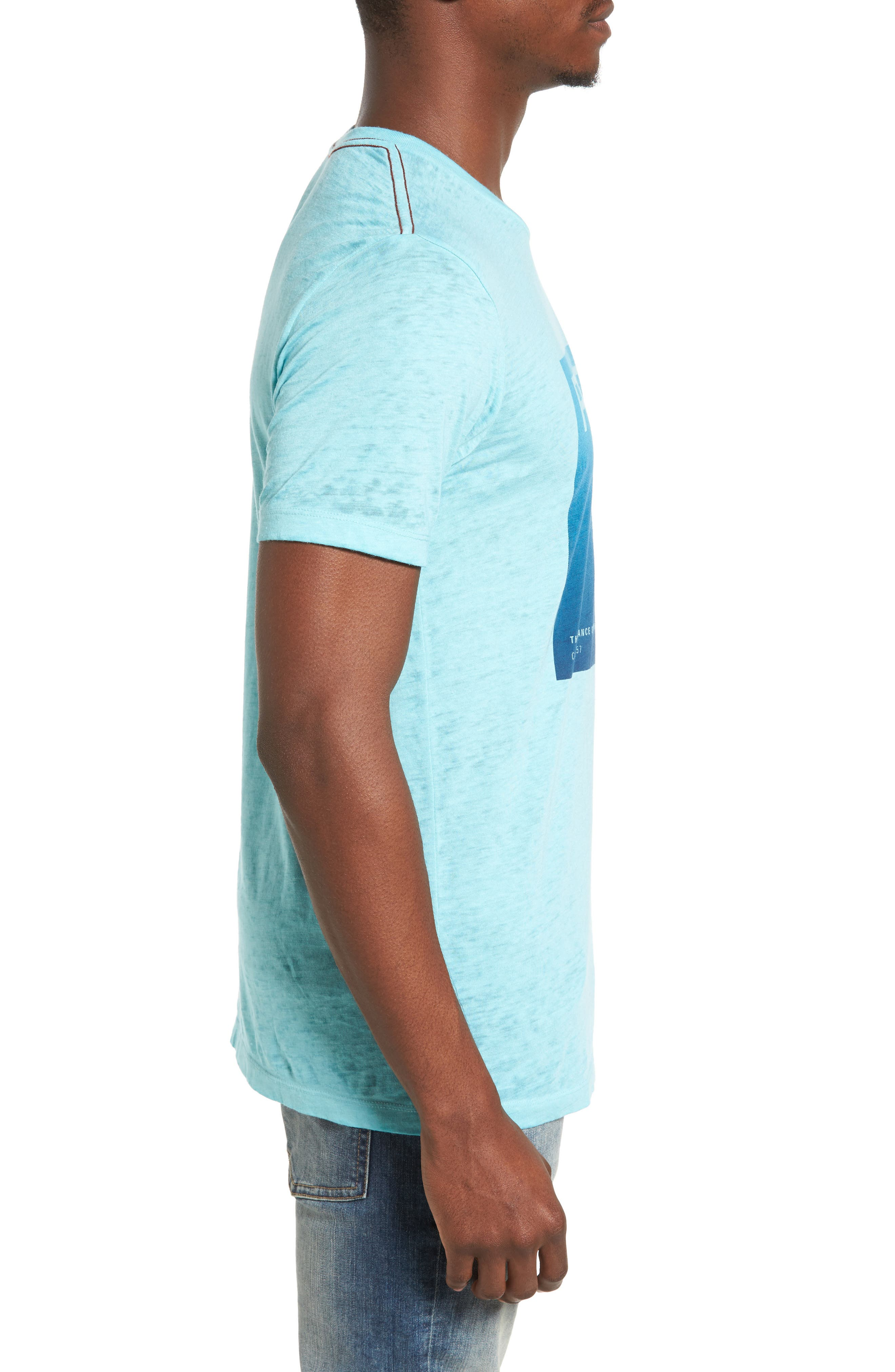 Balance Process T-Shirt,                             Alternate thumbnail 3, color,                             Nile Blue