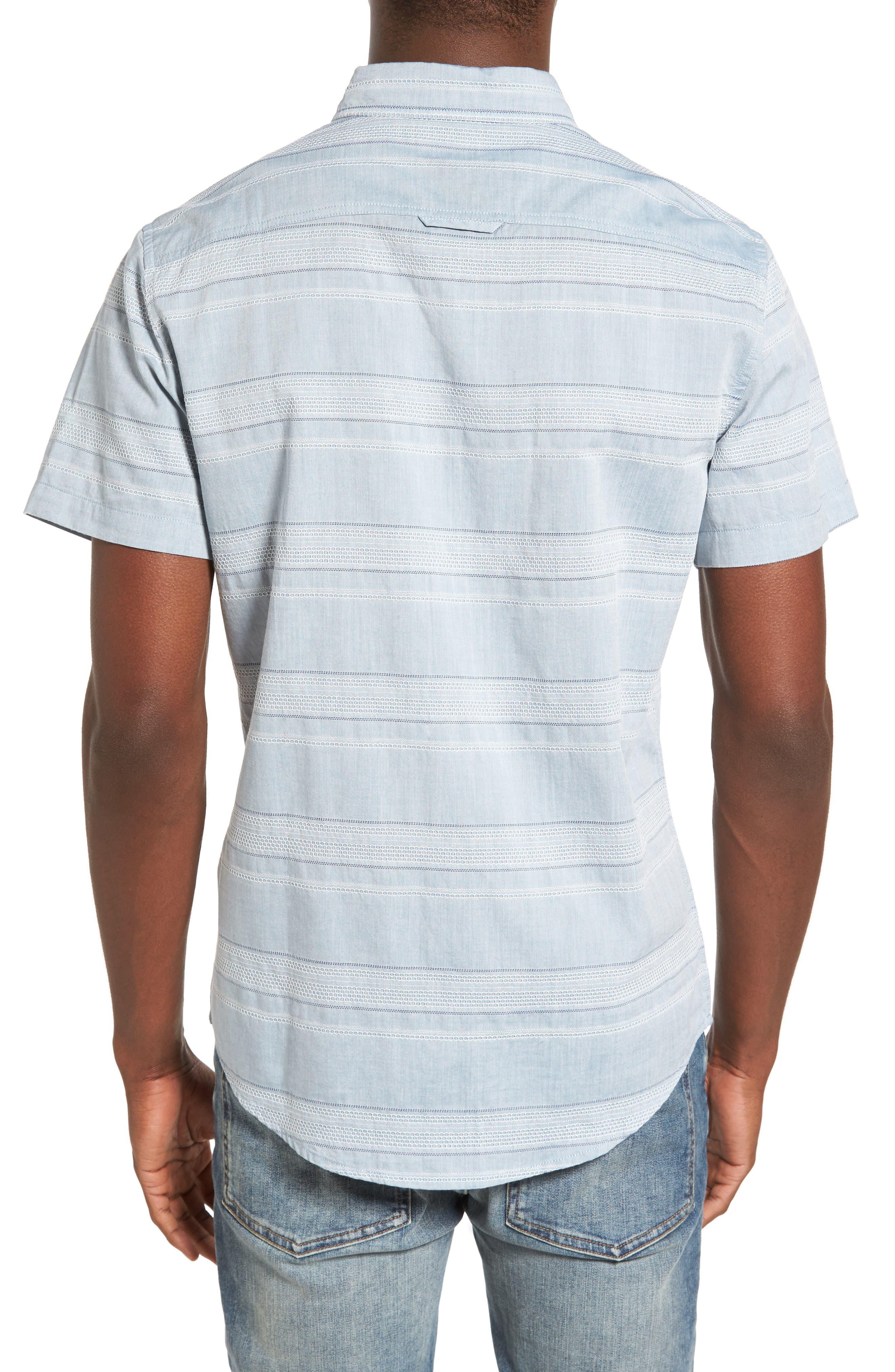 Alternate Image 2  - 1901 Jacquard Trim Fit Sport Shirt