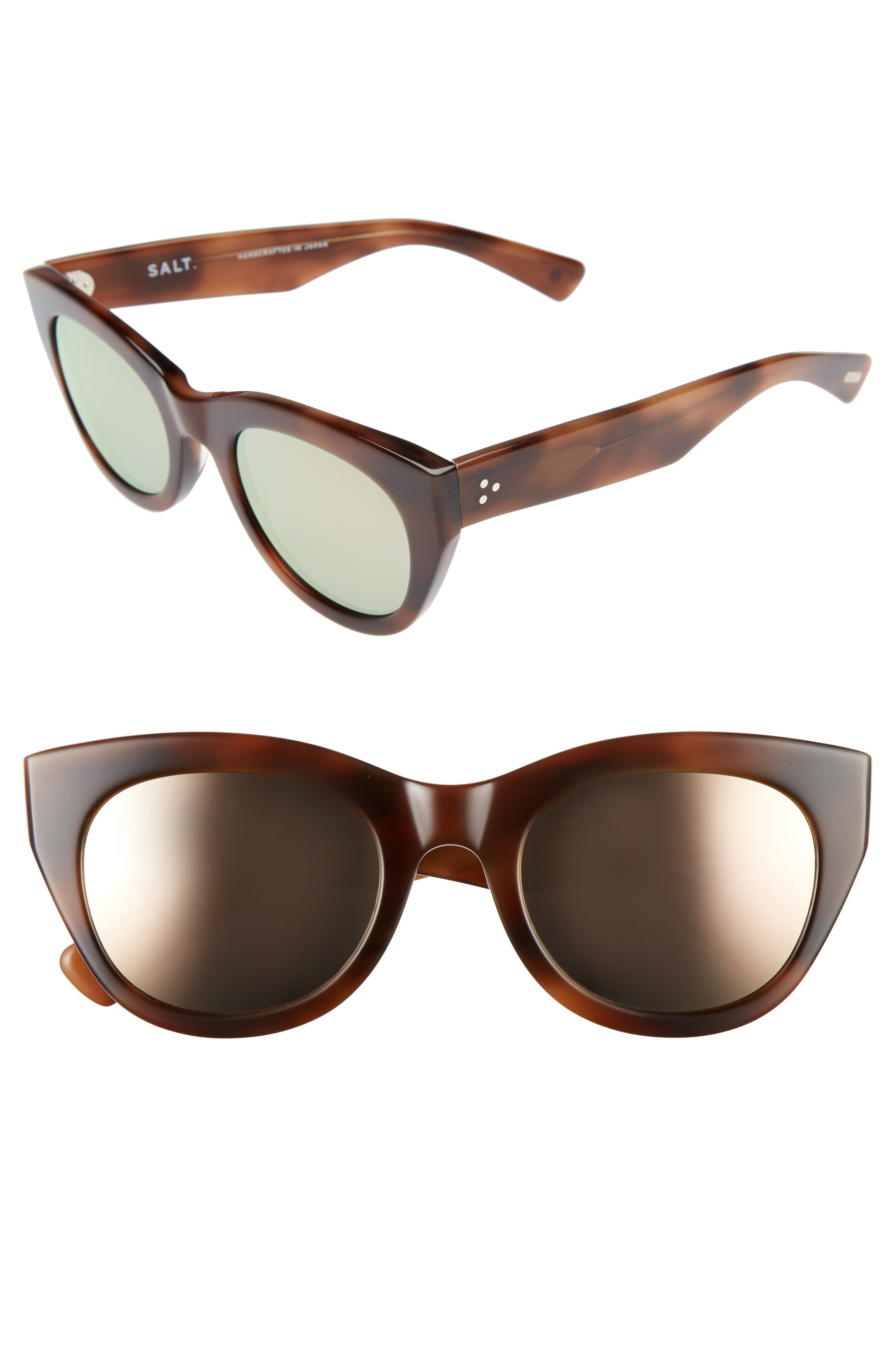 Pila 52mm Polarized Sunglasses,                             Main thumbnail 1, color,                             Cognac/ Rose Mirror