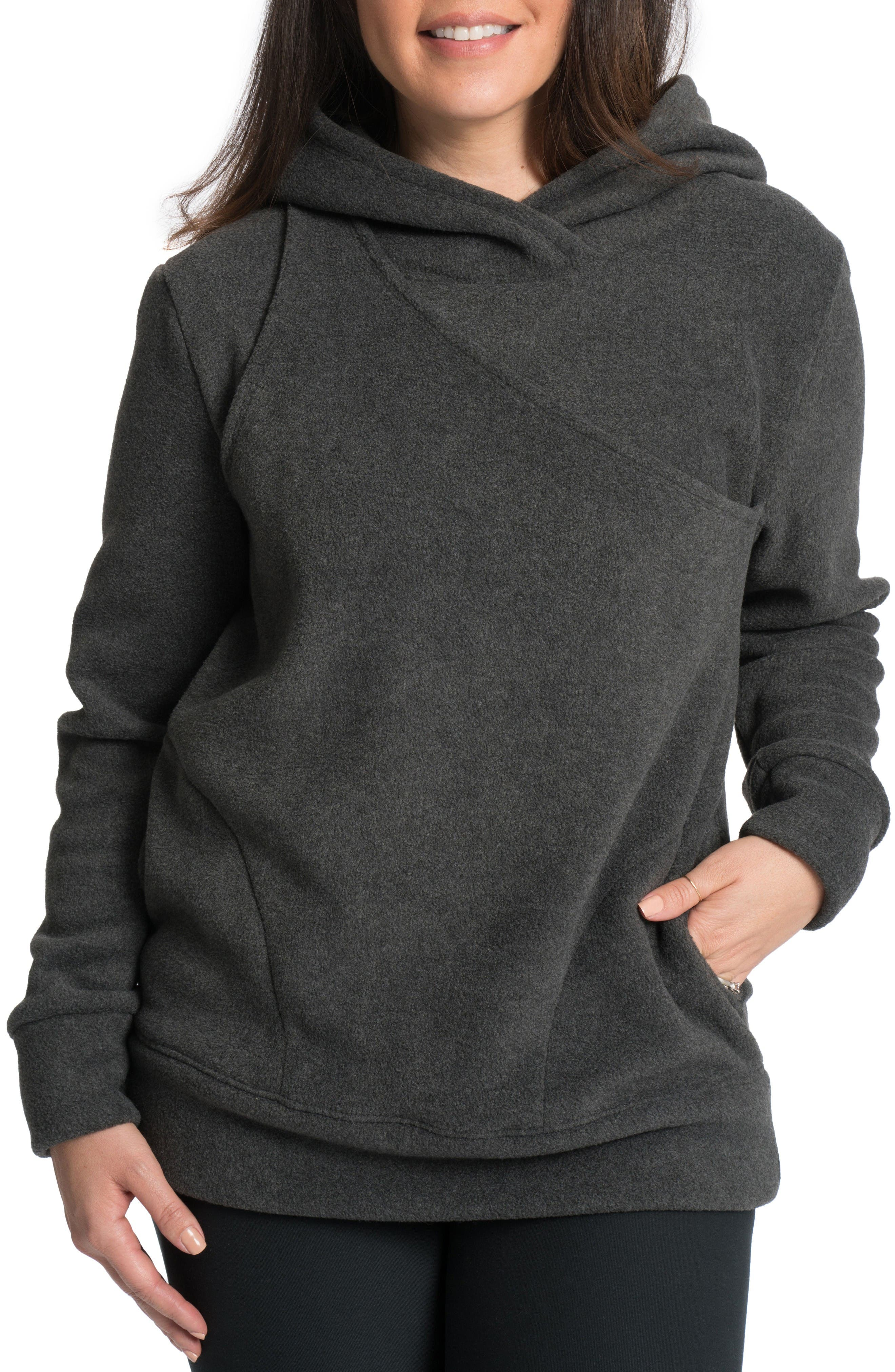 Bun Maternity Warmsie Polar Fleece Nursing Hoodie