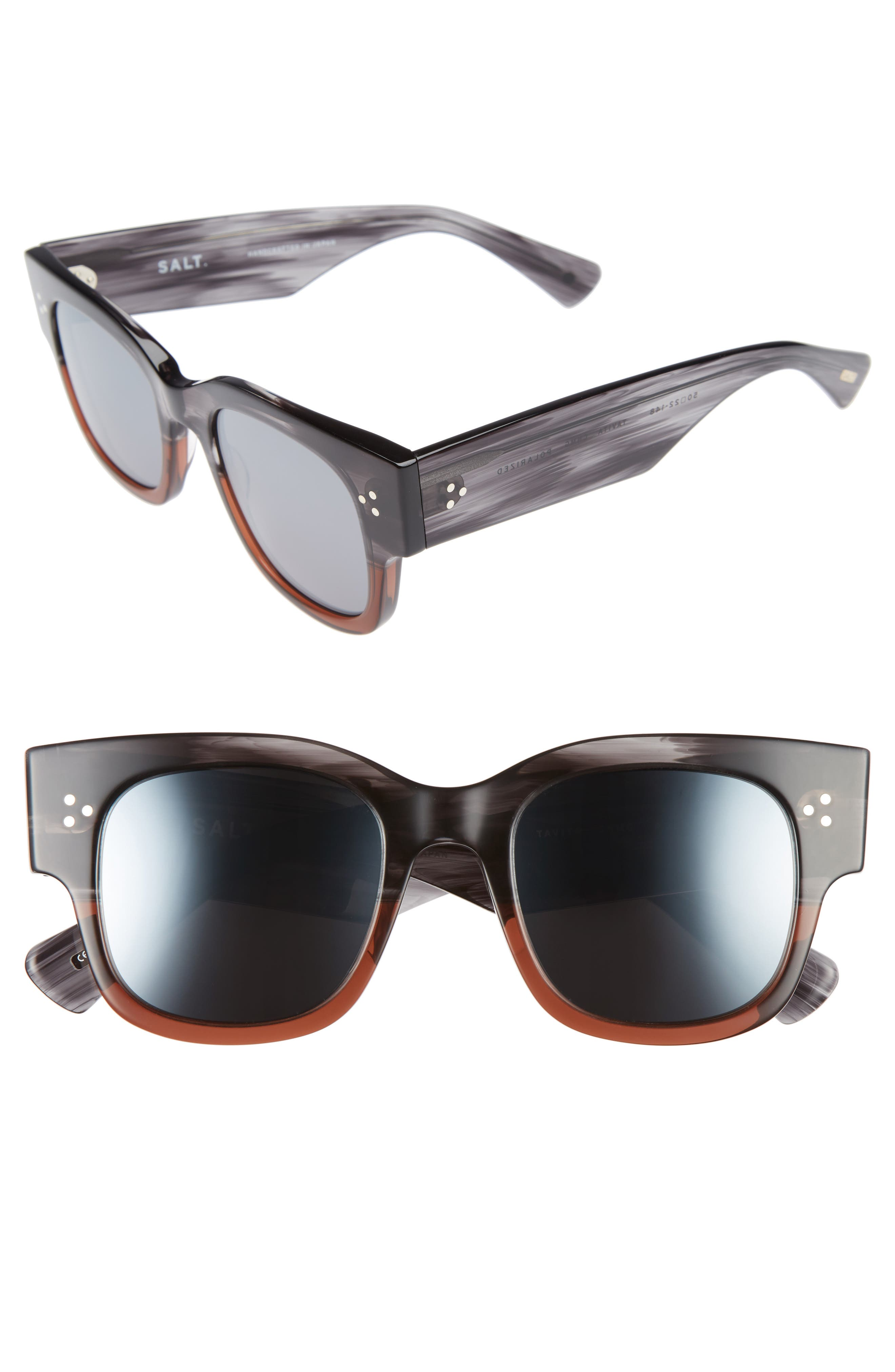 SALT Tavita 50mm Polarized Square Sunglasses