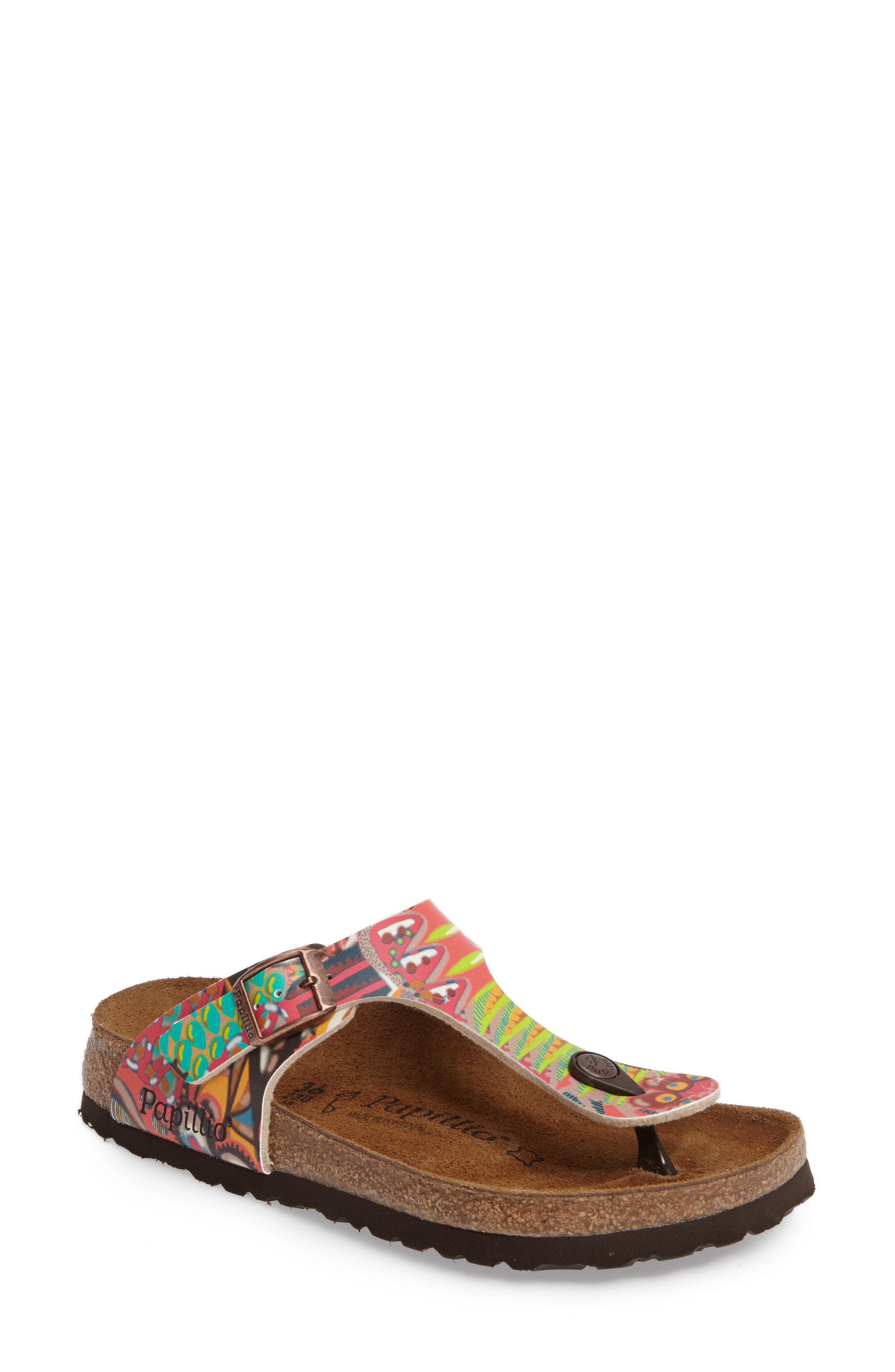 'Gizeh' Sandal,                             Main thumbnail 1, color,                             Raspberry Multi