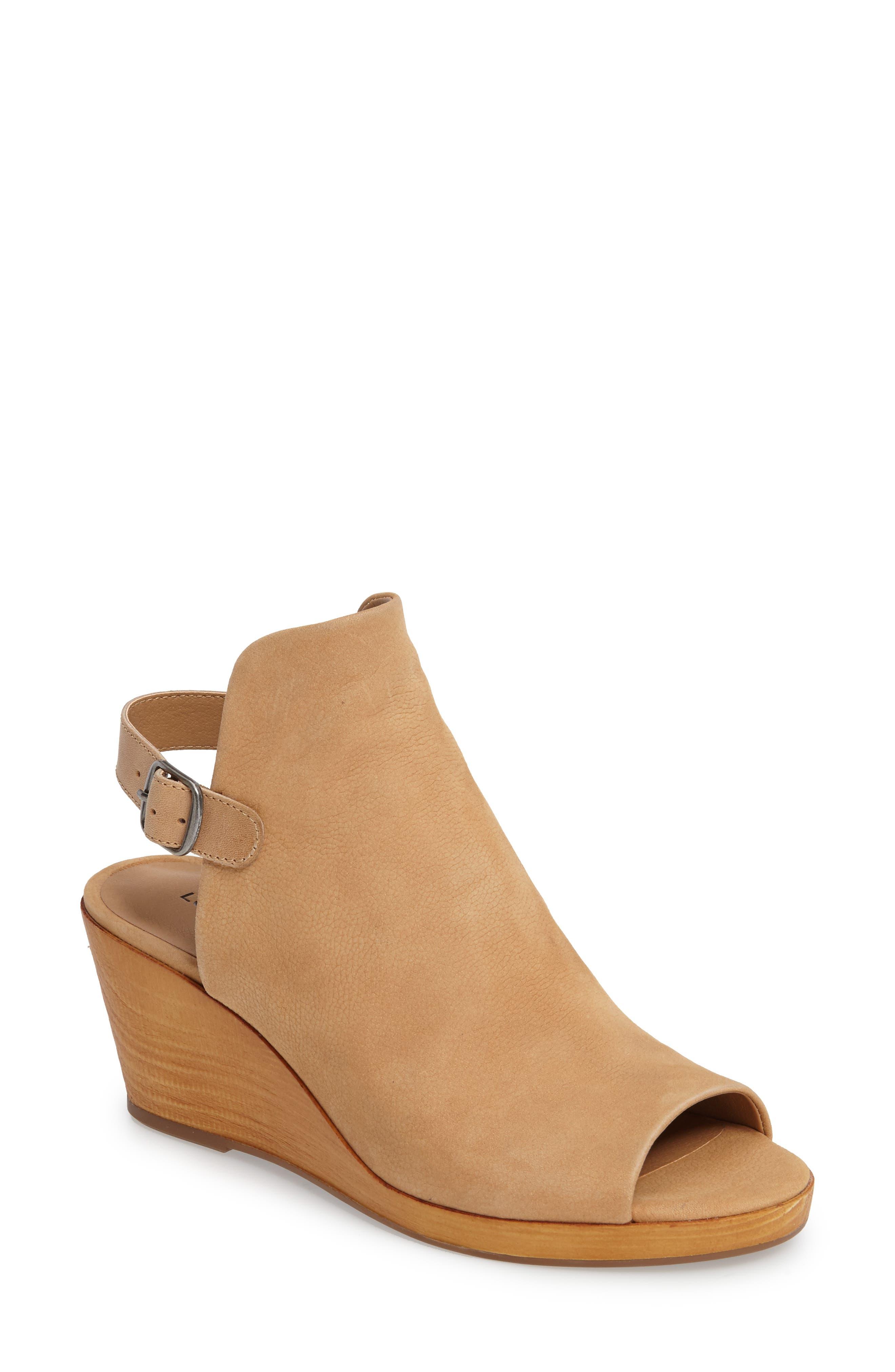 Keralin Wedge Sandal,                         Main,                         color, Glazed Leather