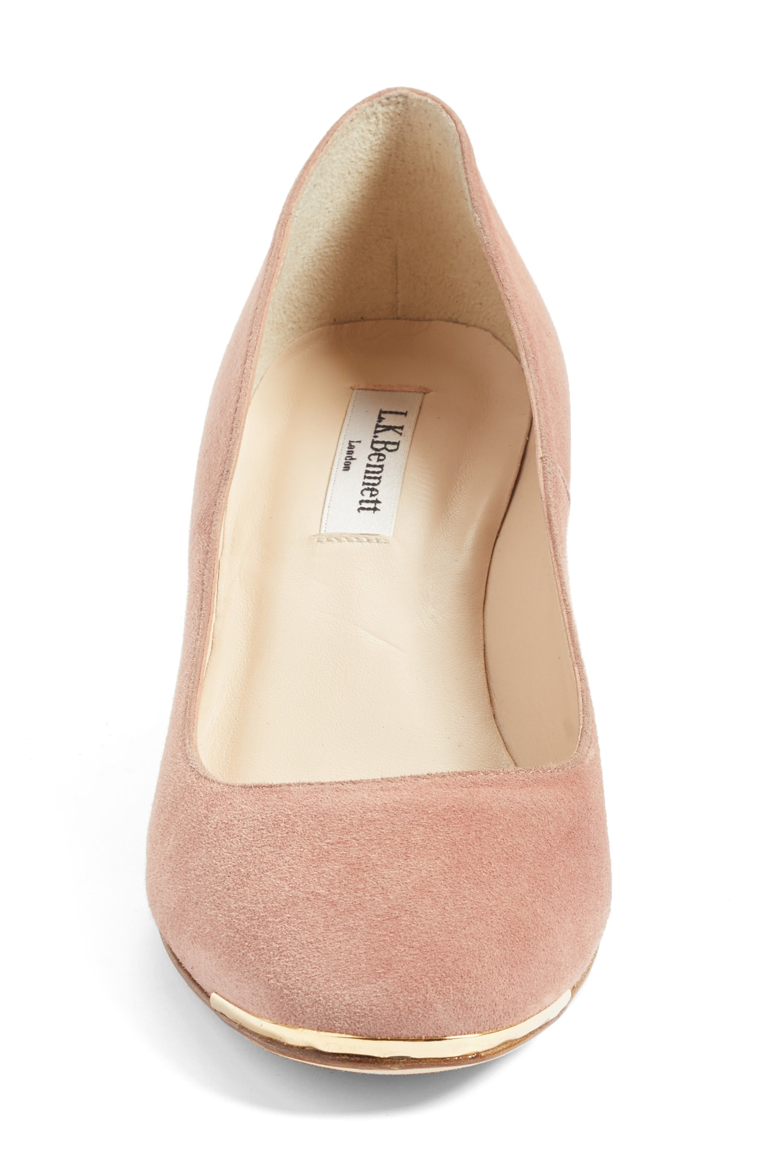 Clemence Pump,                             Alternate thumbnail 4, color,                             Pink/ Dark Pink