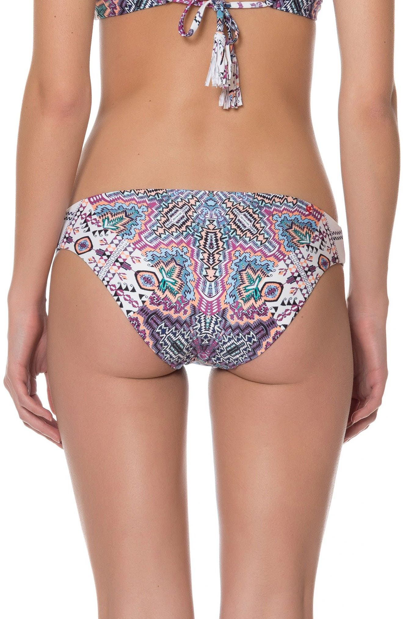 Red Carter Print Bikini Bottoms