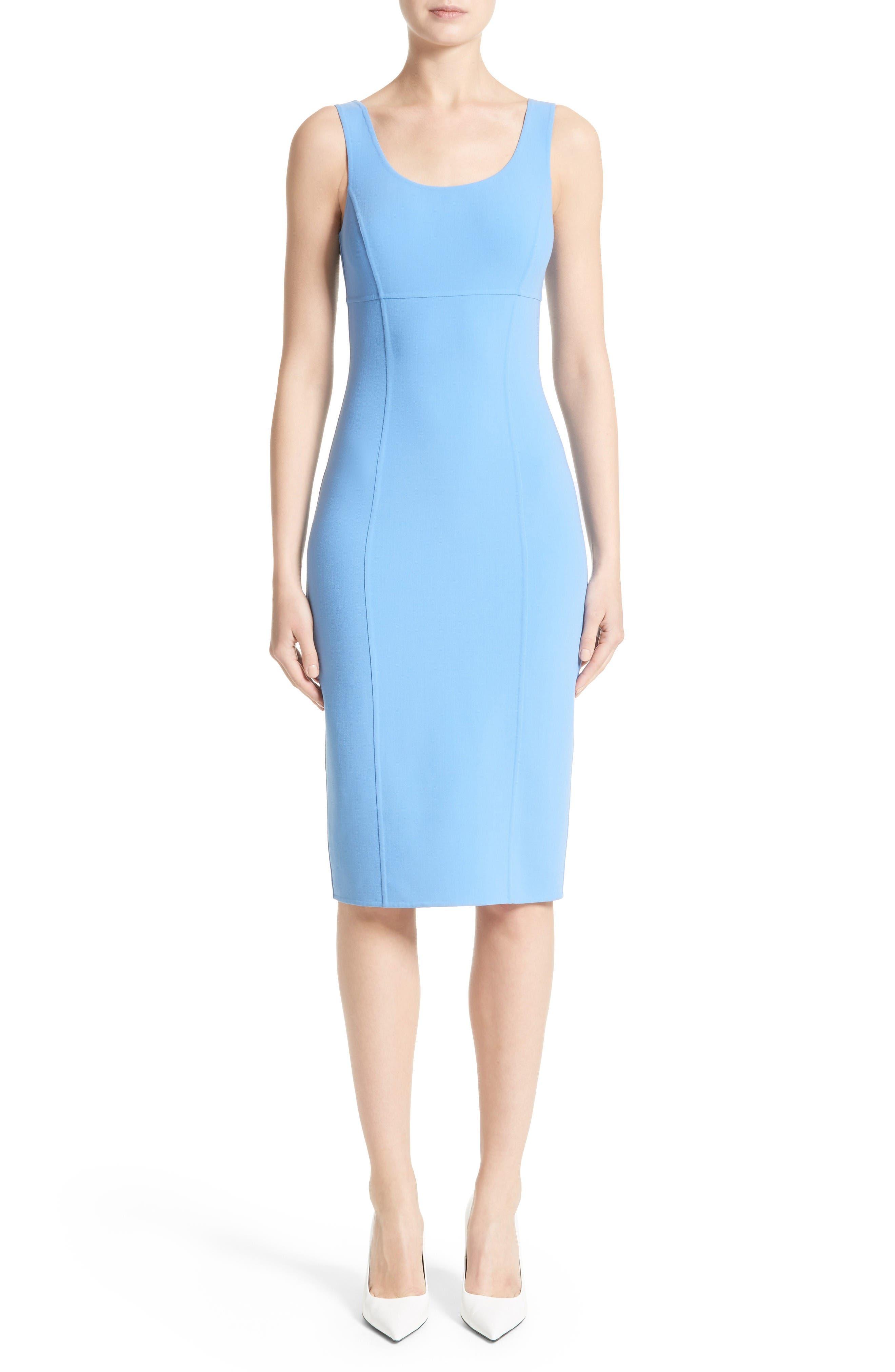Alternate Image 1 Selected - Michael Kors Stretch Wool Crepe Sheath Dress