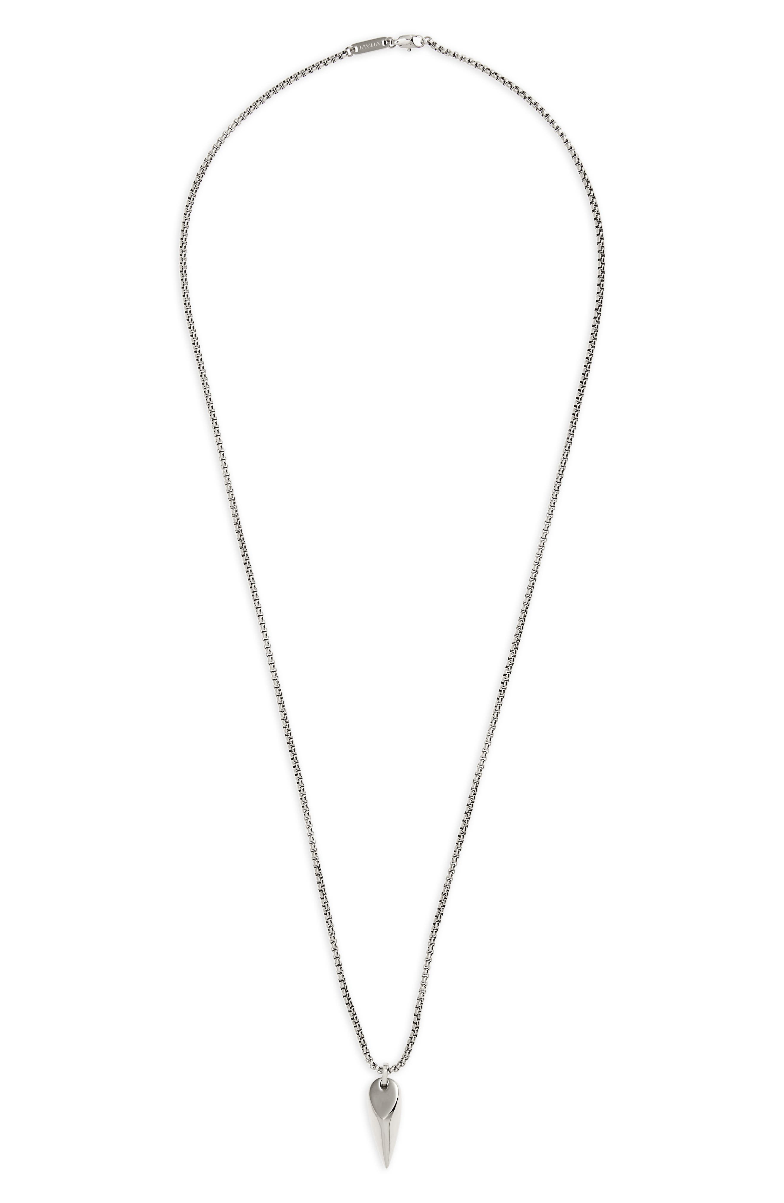 Corvus Pendant Necklace,                         Main,                         color, Stainless Steel