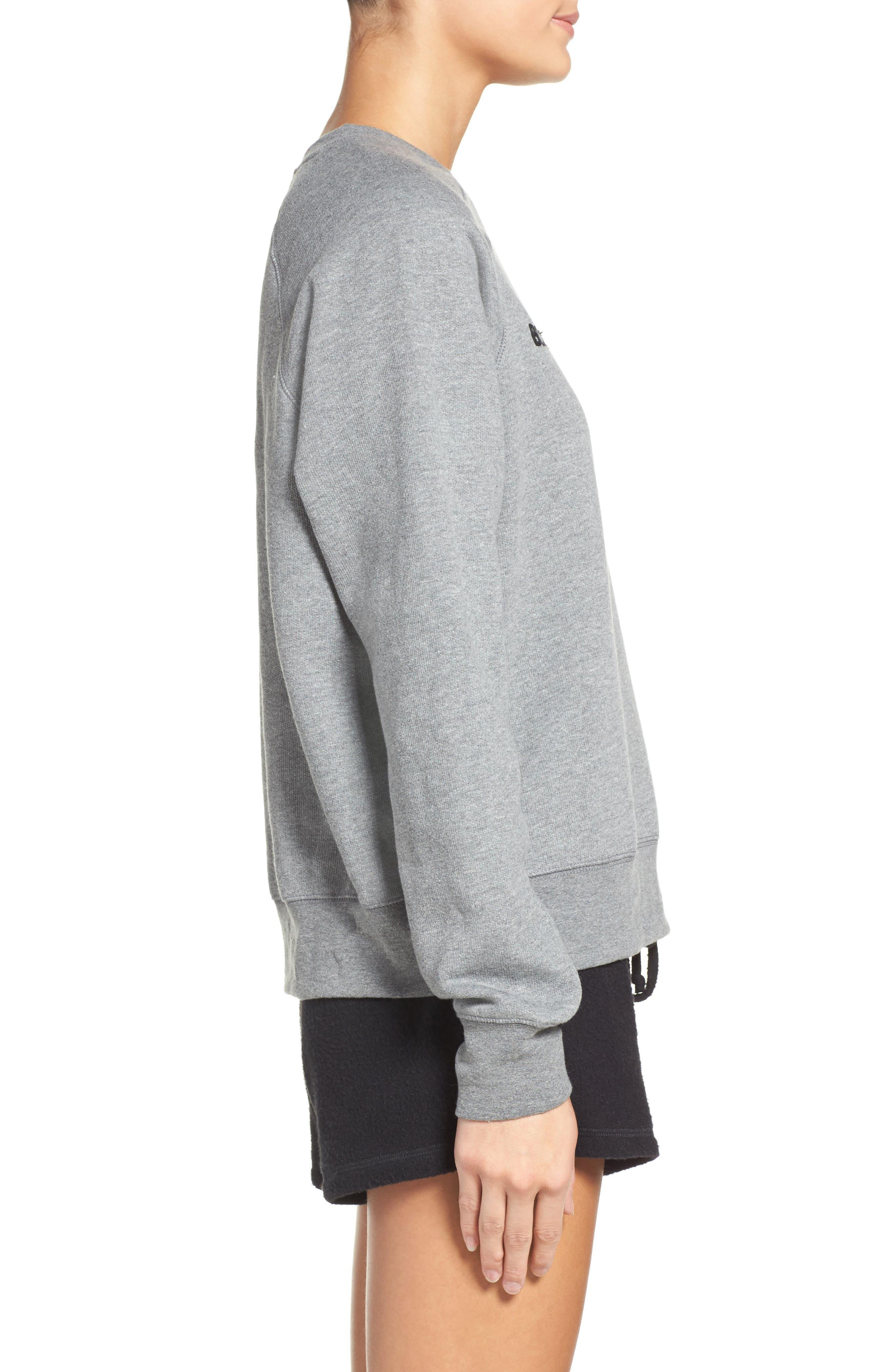 Blonde Crewneck Sweatshirt,                             Alternate thumbnail 3, color,                             Heather Grey