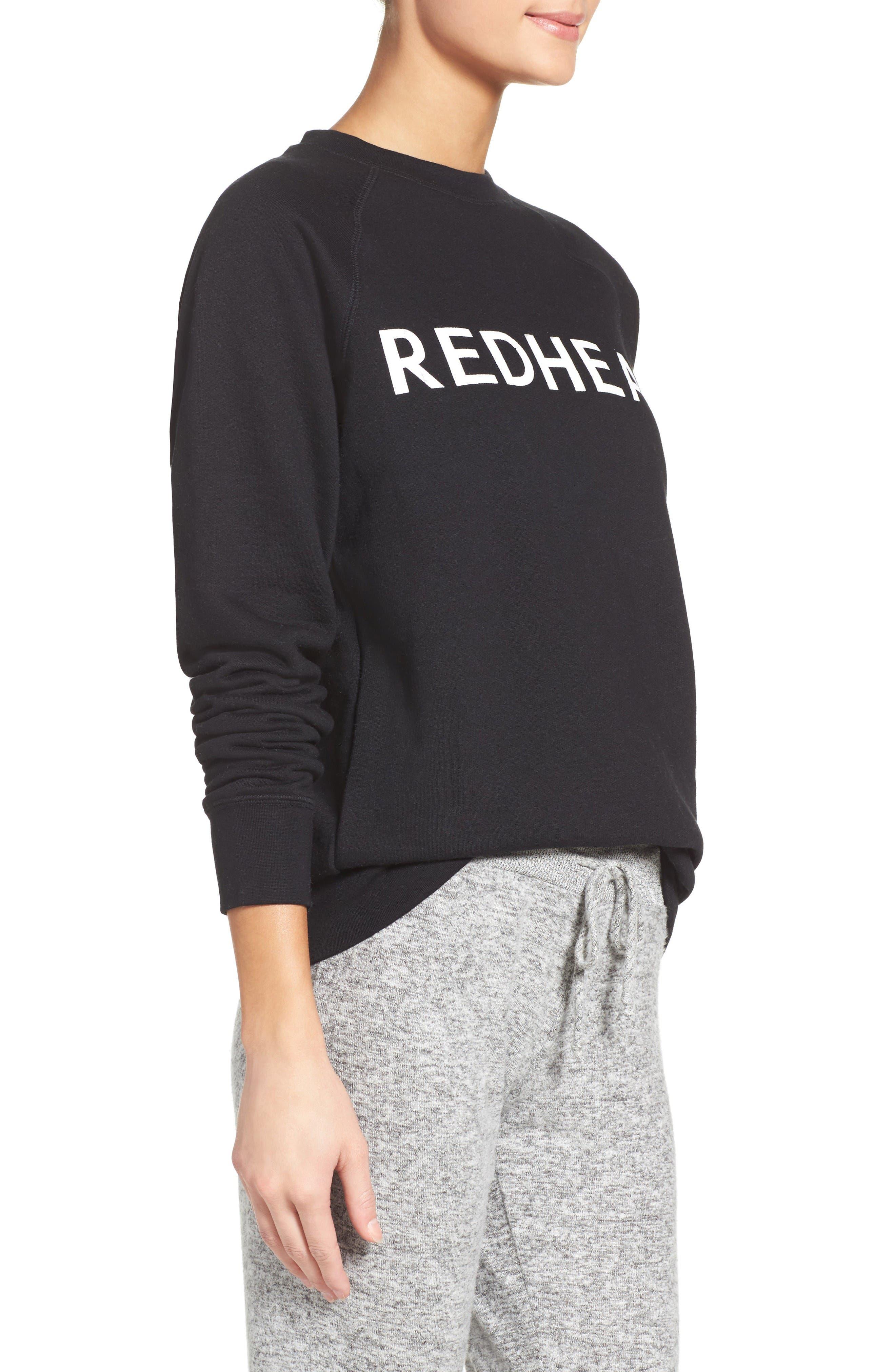Alternate Image 3  - BRUNETTE the Label Redhead Lounge Sweatshirt