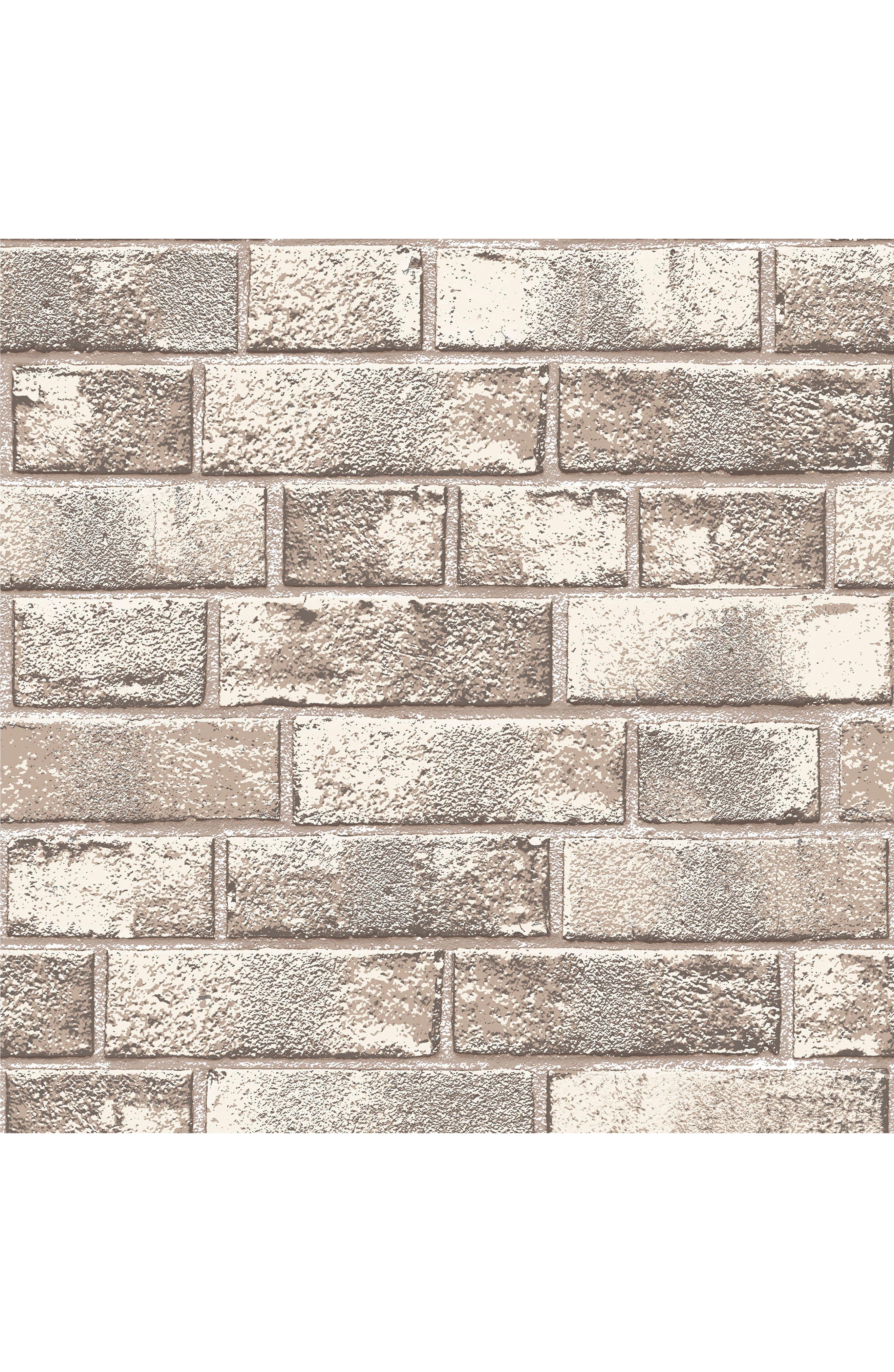 Tempaper Brick Self-Adhesive Vinyl Wallpaper