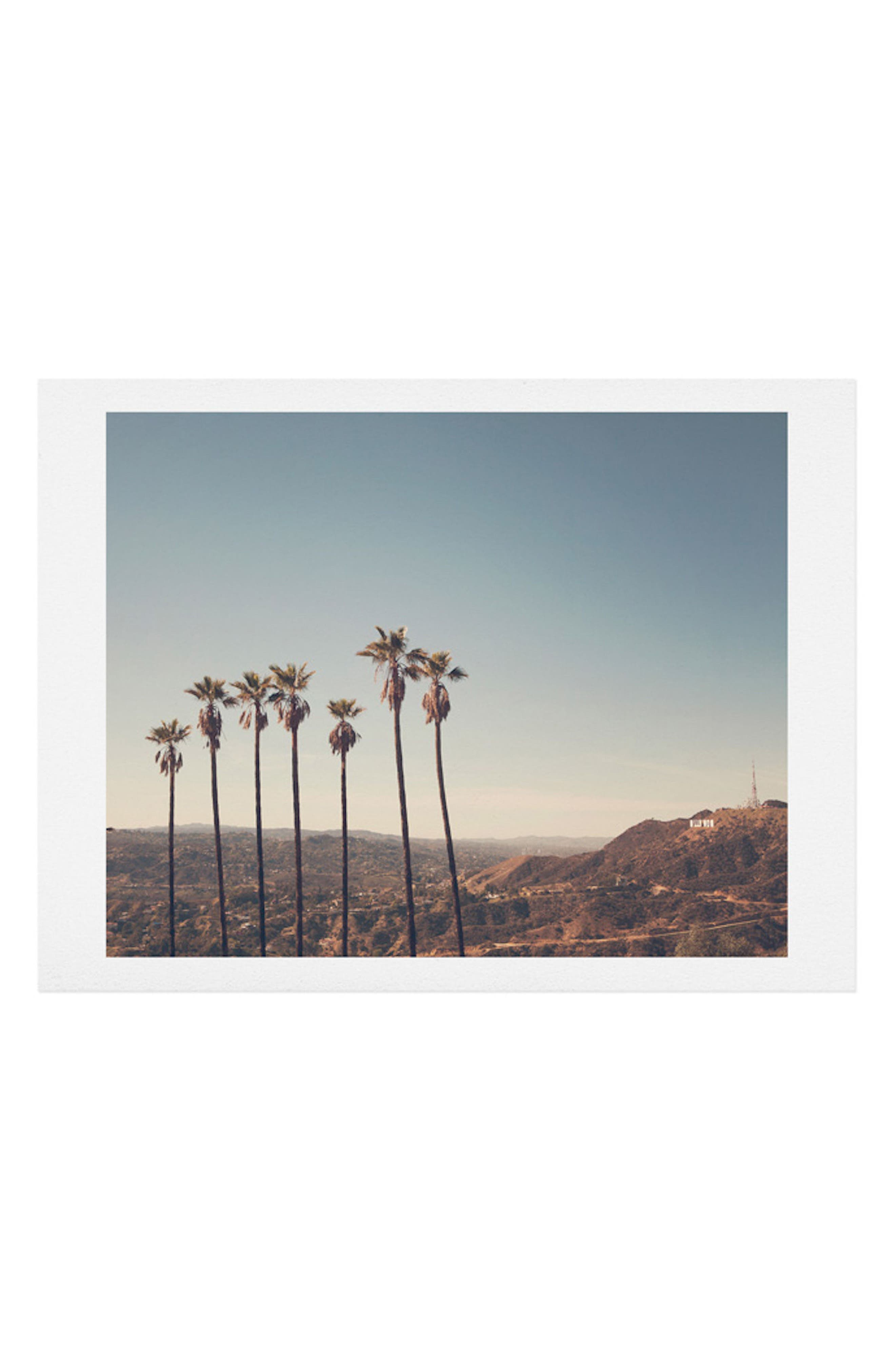 Hollywood Hills Art Print,                         Main,                         color, Blue