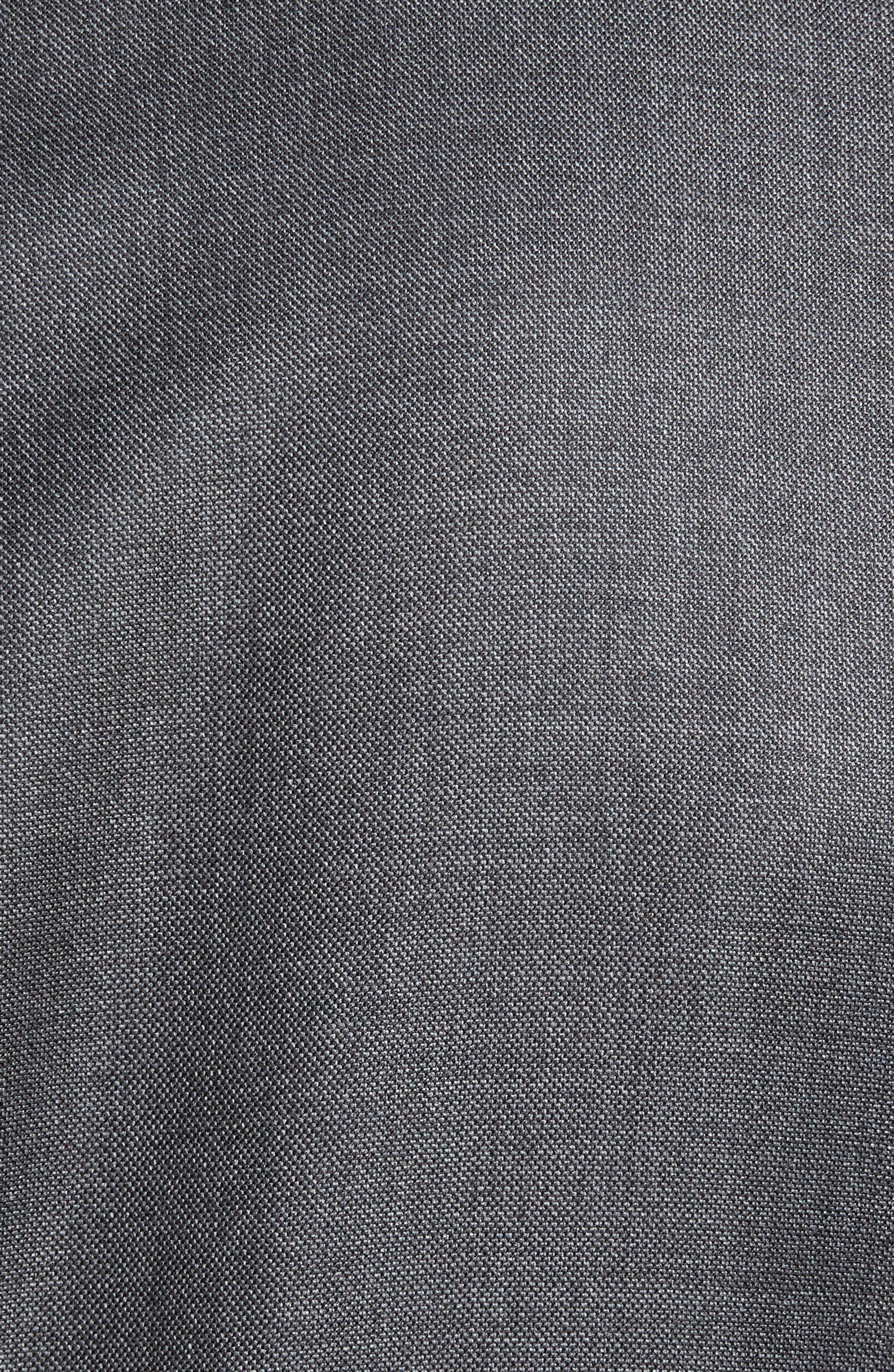 Beckett Classic Fit Sharkskin Wool Suit,                             Alternate thumbnail 7, color,                             Charcoal