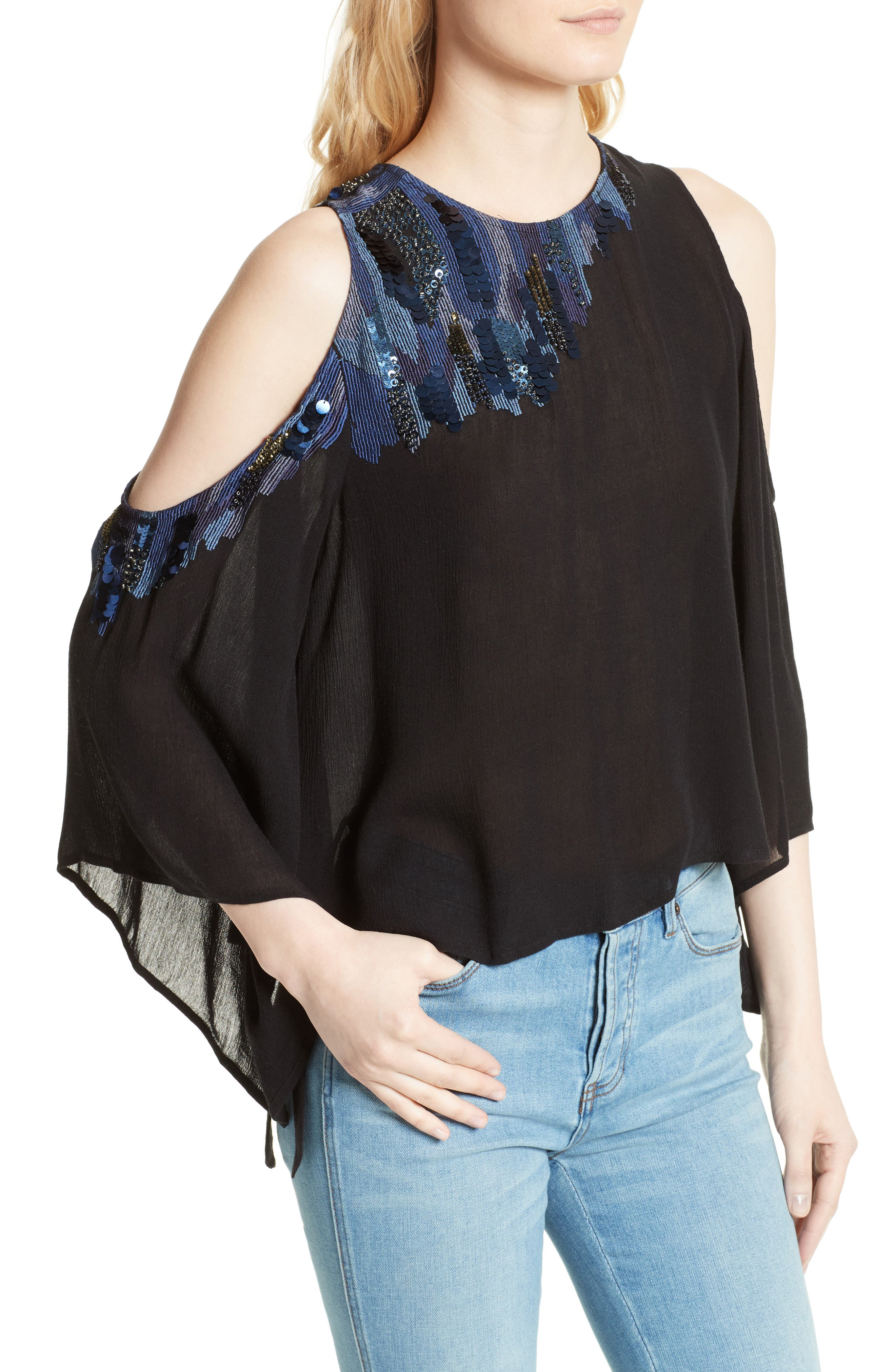 Alternate Image 4  - Free People All About You Embellished Cold Shoulder Top