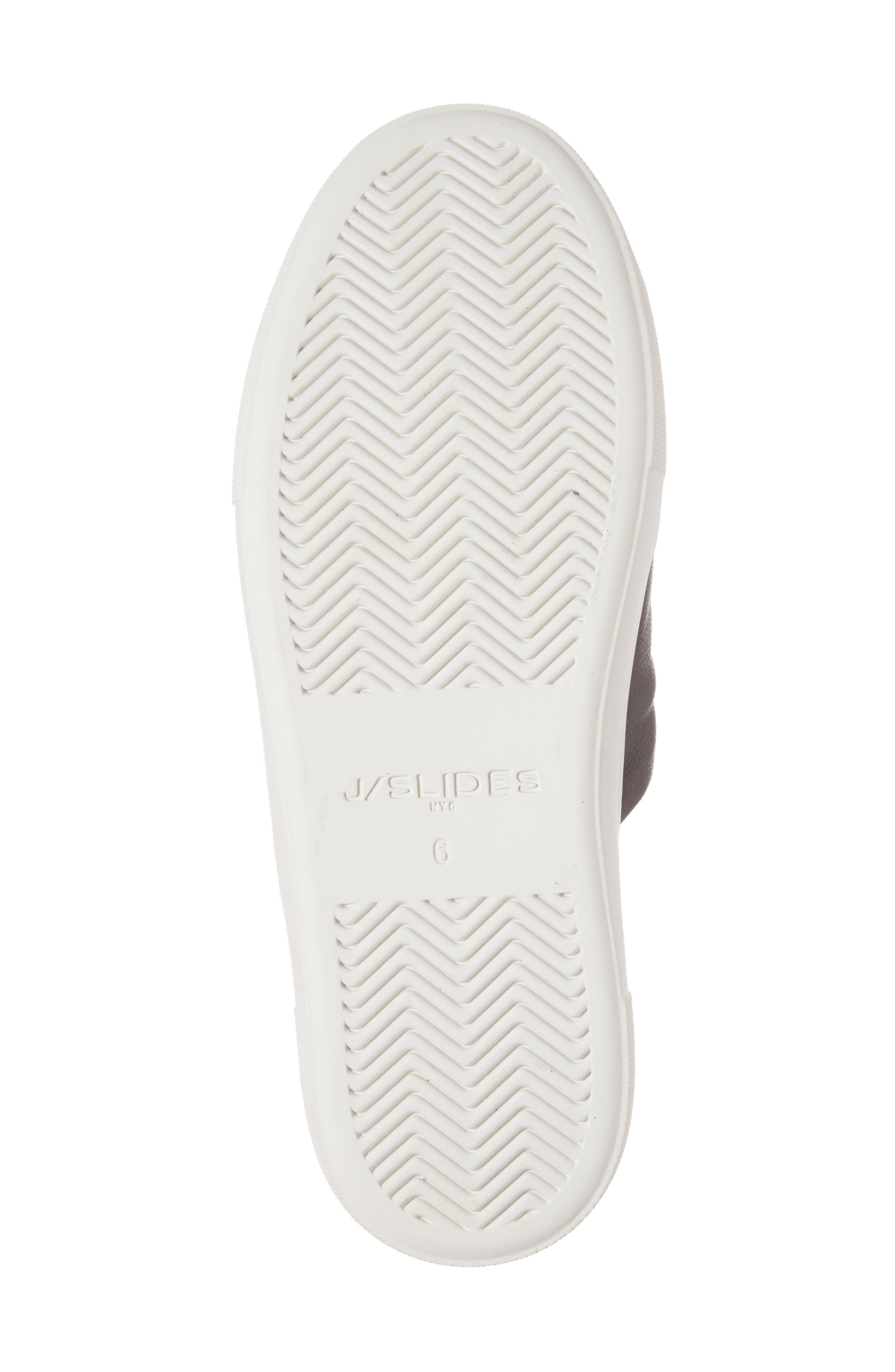 Alura Platform Slide Sandal,                             Alternate thumbnail 6, color,                             Black Leather