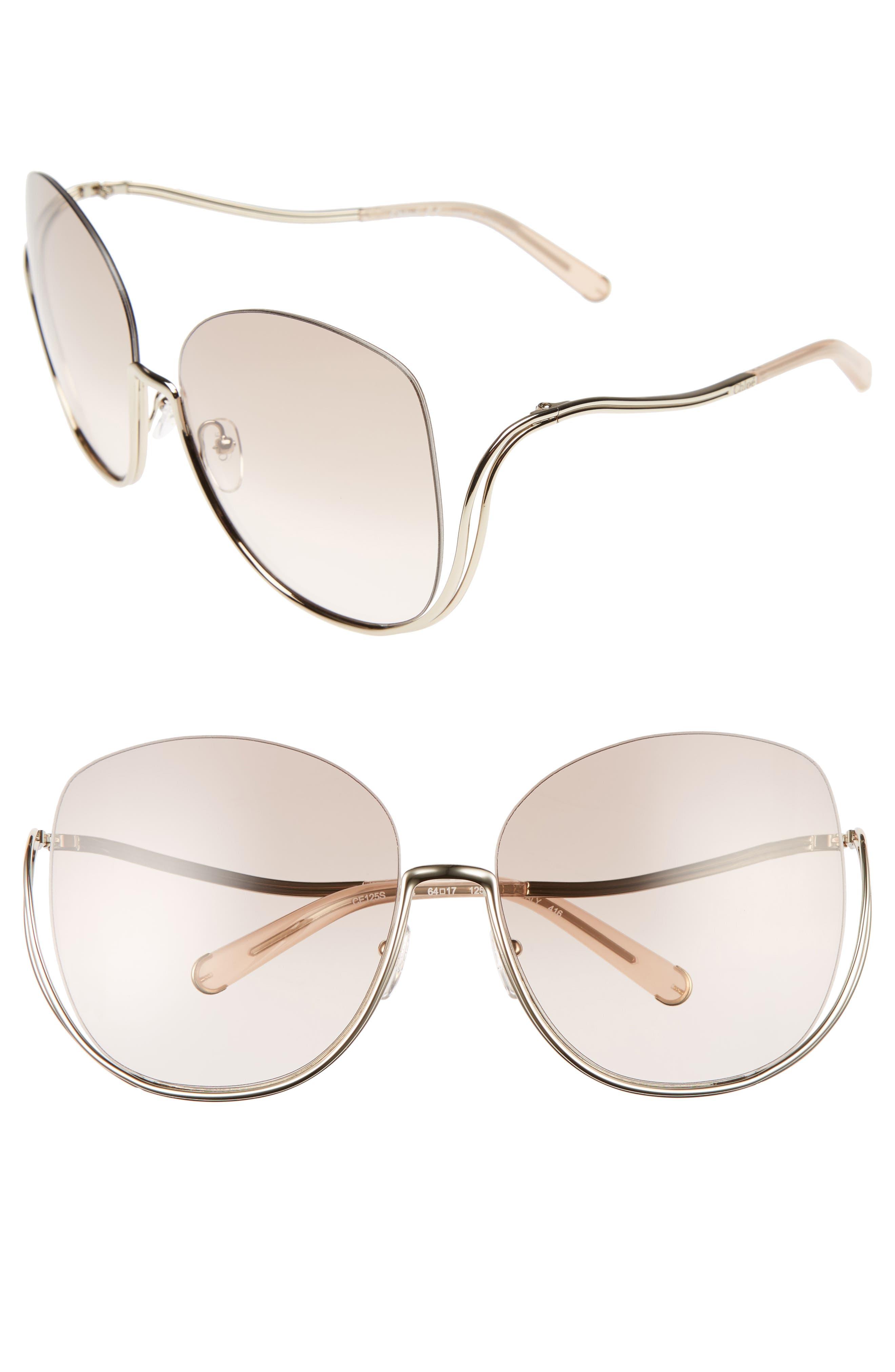 Chloé Milla 64mm Oversize Sunglasses