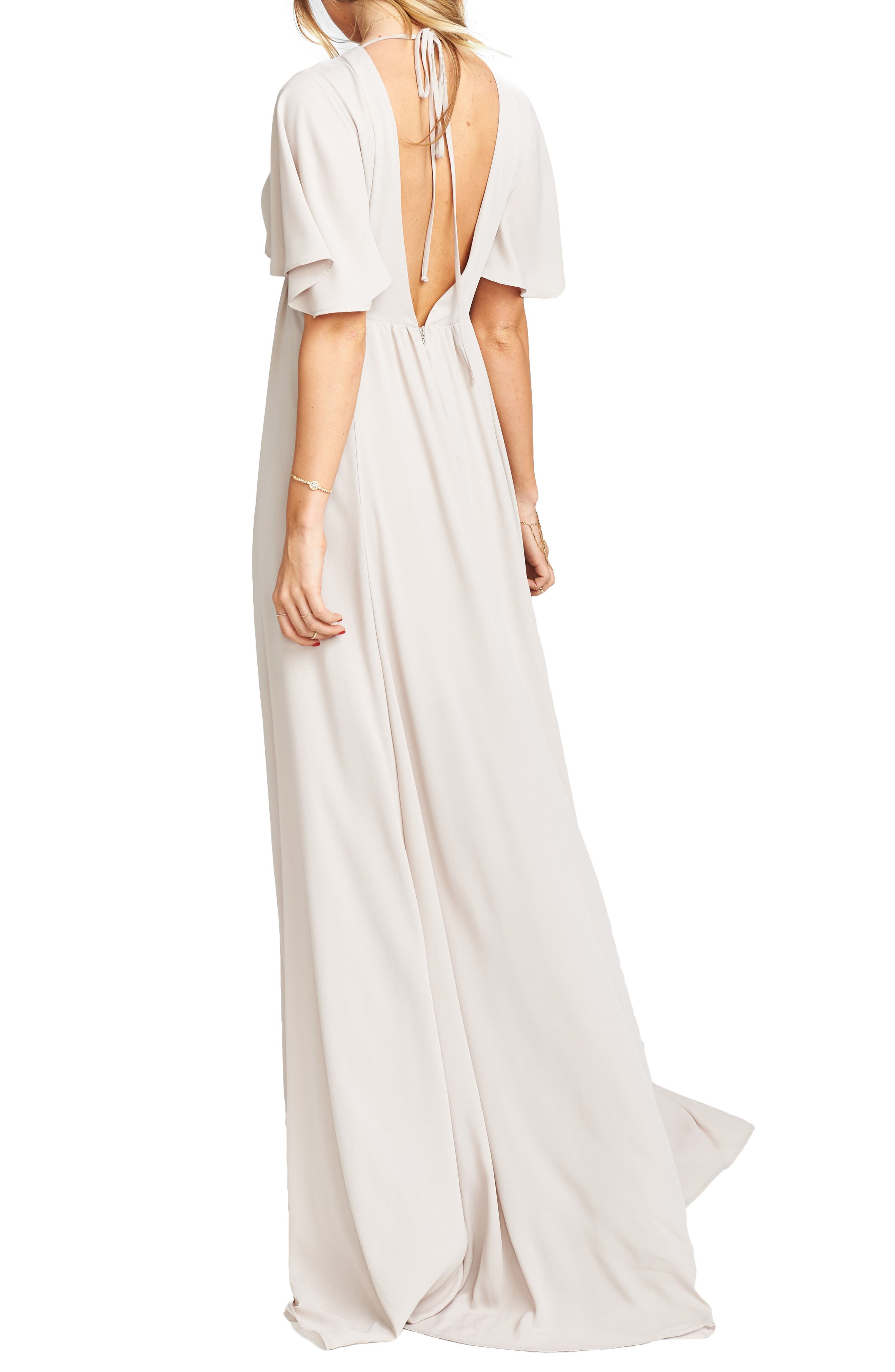 Faye Chiffon Gown,                             Alternate thumbnail 2, color,                             Show Me The Ring