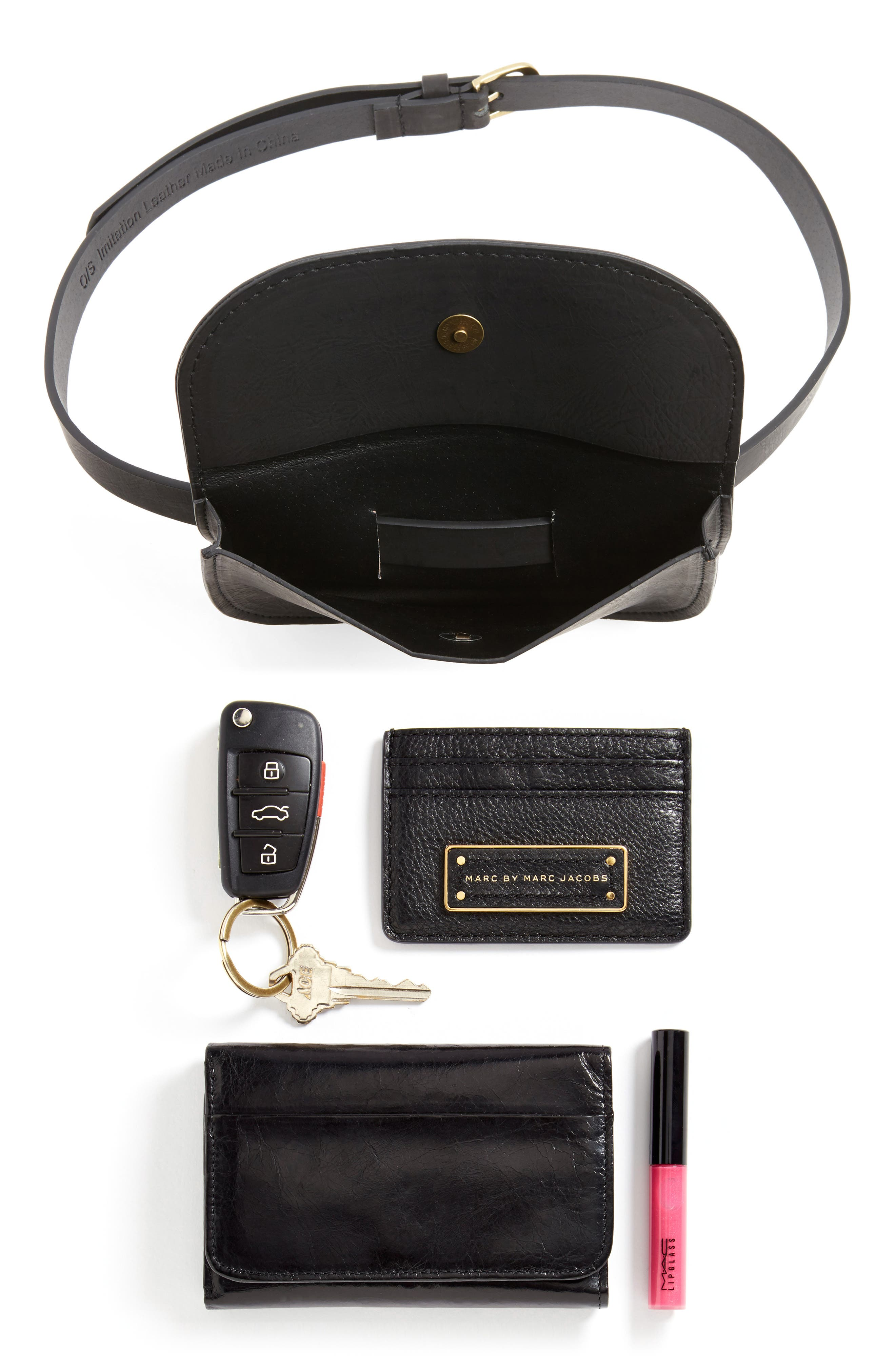 Alternate Image 7  - Accessory Collective Faux Leather Belt Bag
