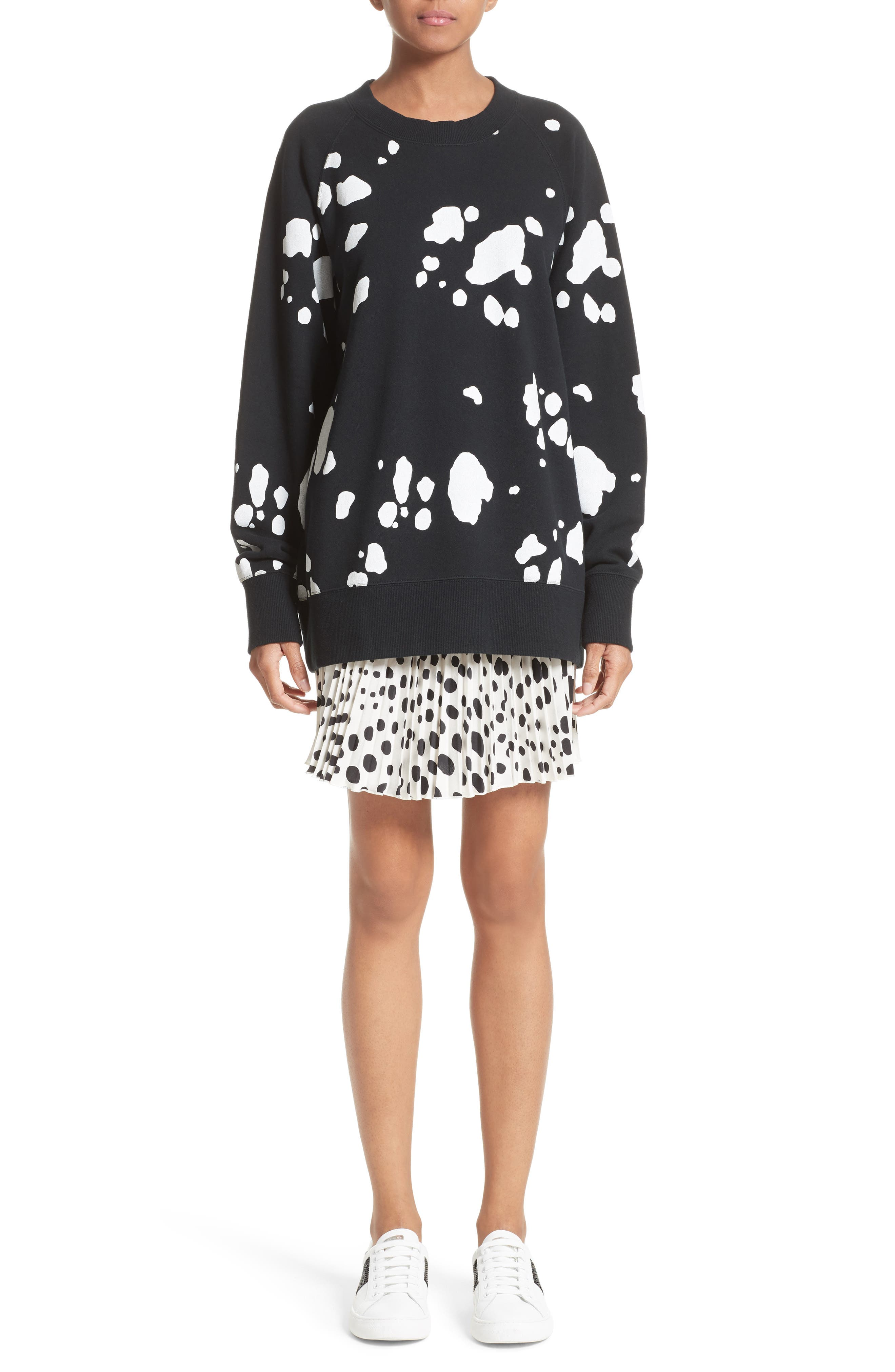 Alternate Image 7  - MARC JACOBS Pleated Polka Dot Silk Skirt