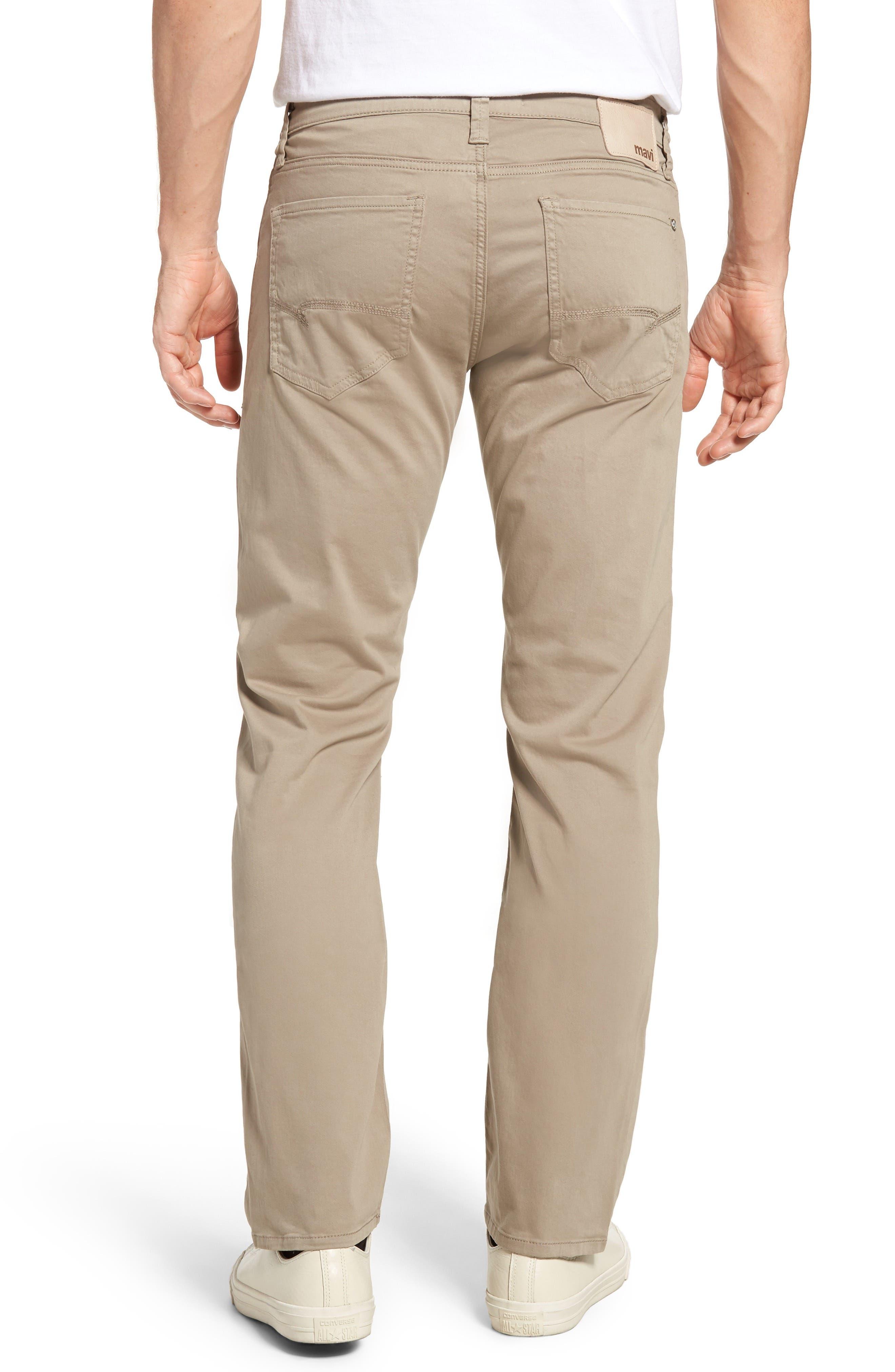 Zach Straight Leg Twill Pants,                             Alternate thumbnail 2, color,                             Beige Twill