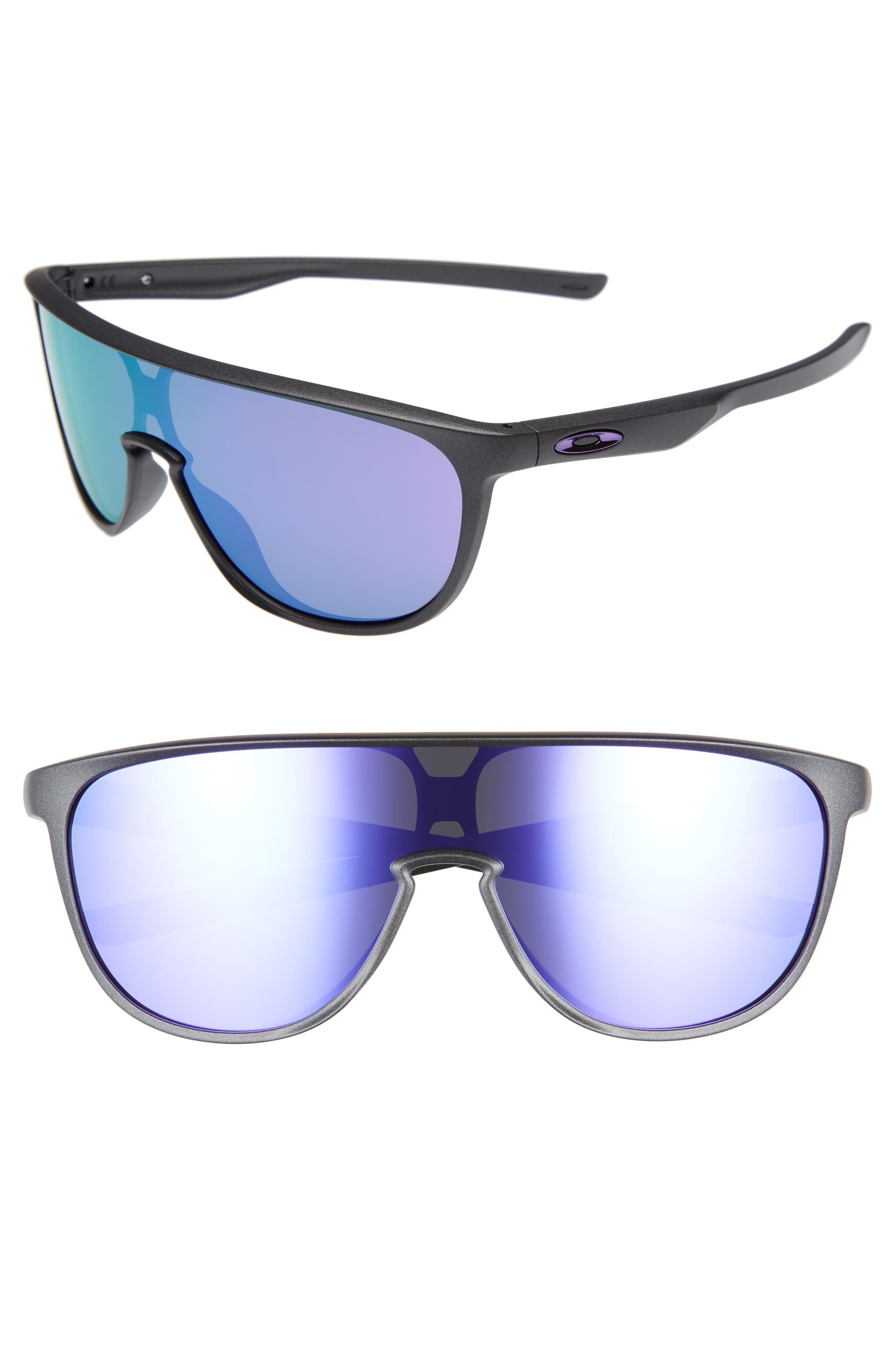 Trillbe 140mm Shield Sunglasses,                         Main,                         color, Steel/ Violet Iridium