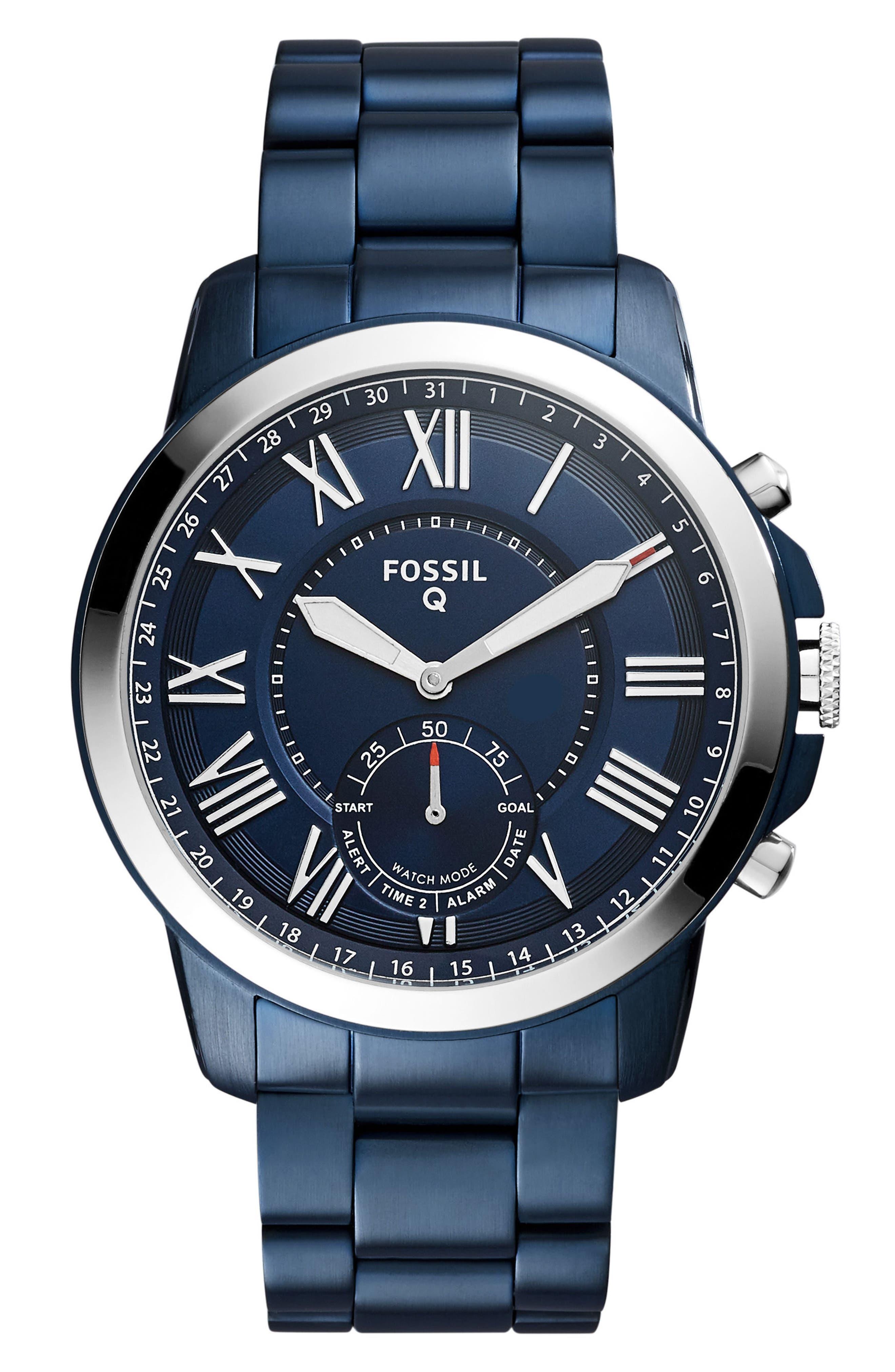Fossil Q Grant Bracelet Smart Watch, 44mm
