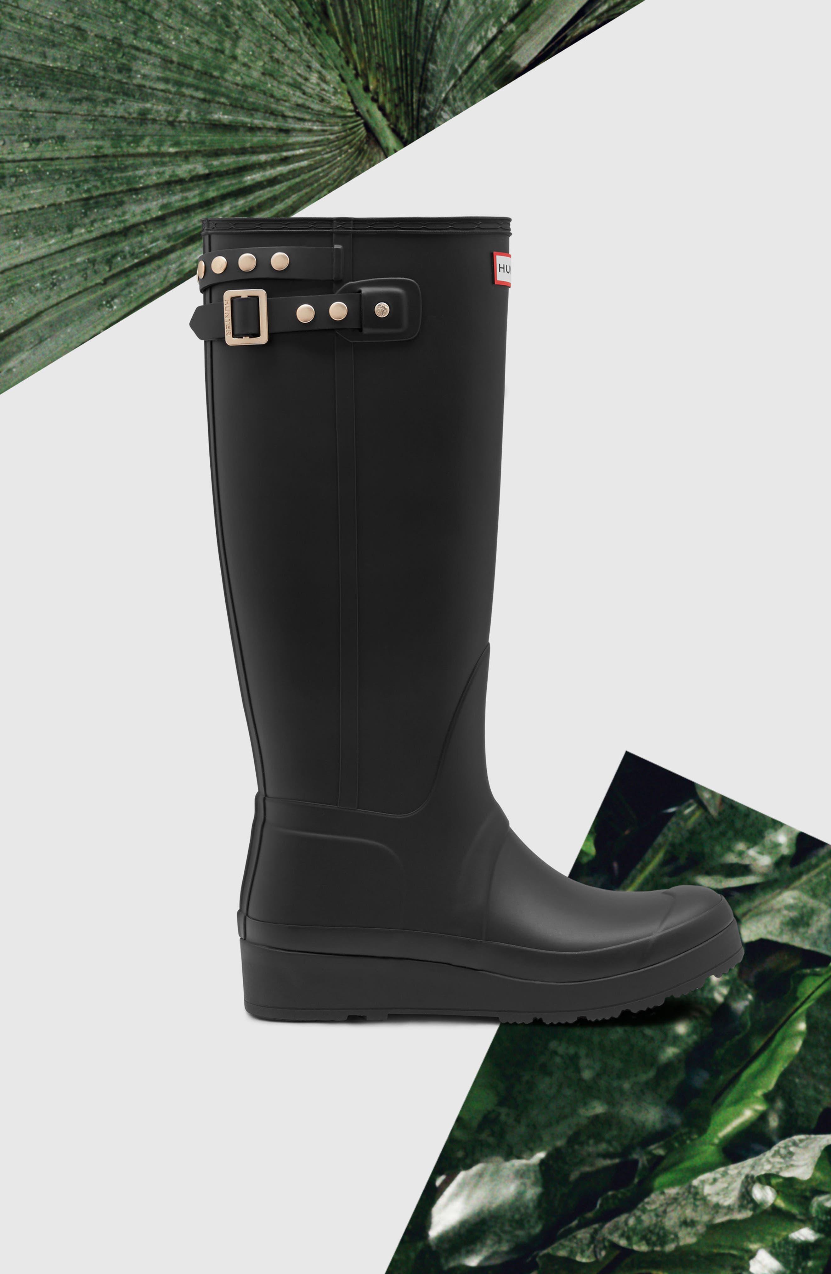 Alternate Image 5  - Hunter Original Tall Studded Wedge Rain Boot (Women)