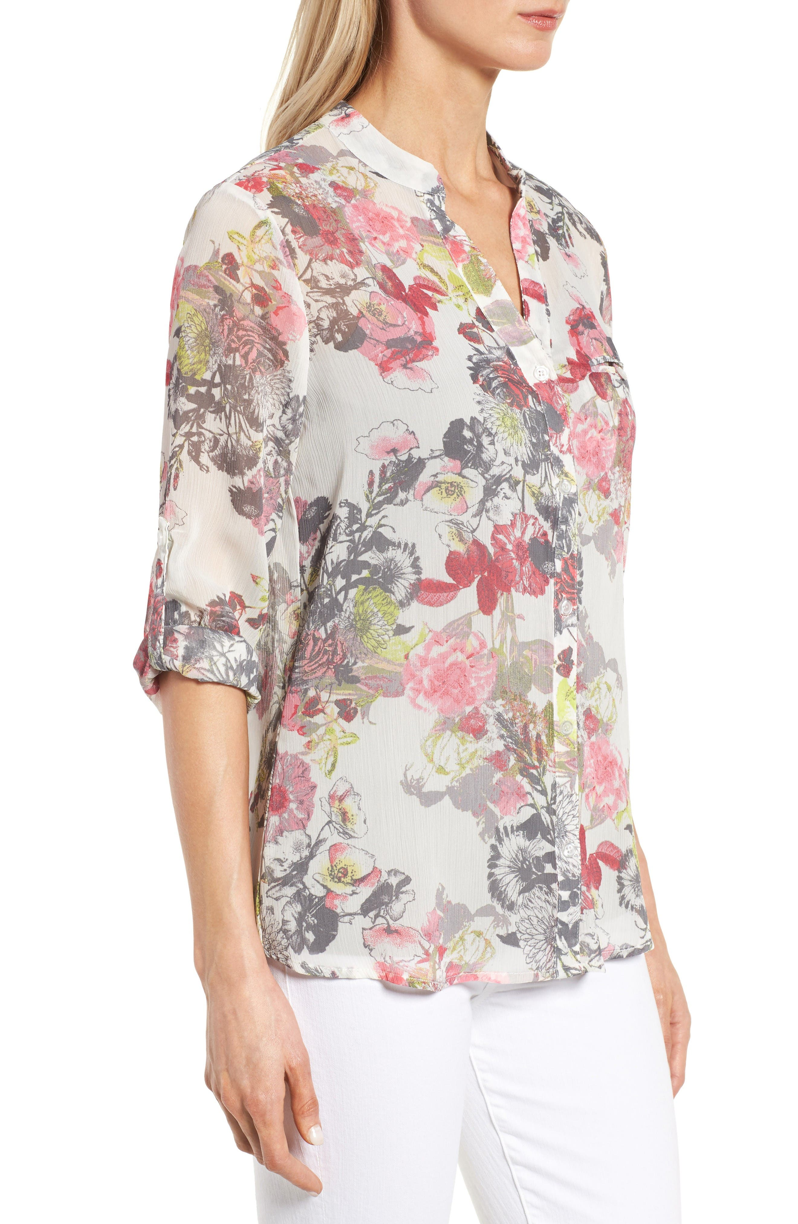 Alternate Image 3  - KUT from the Kloth Floral Print Blouse