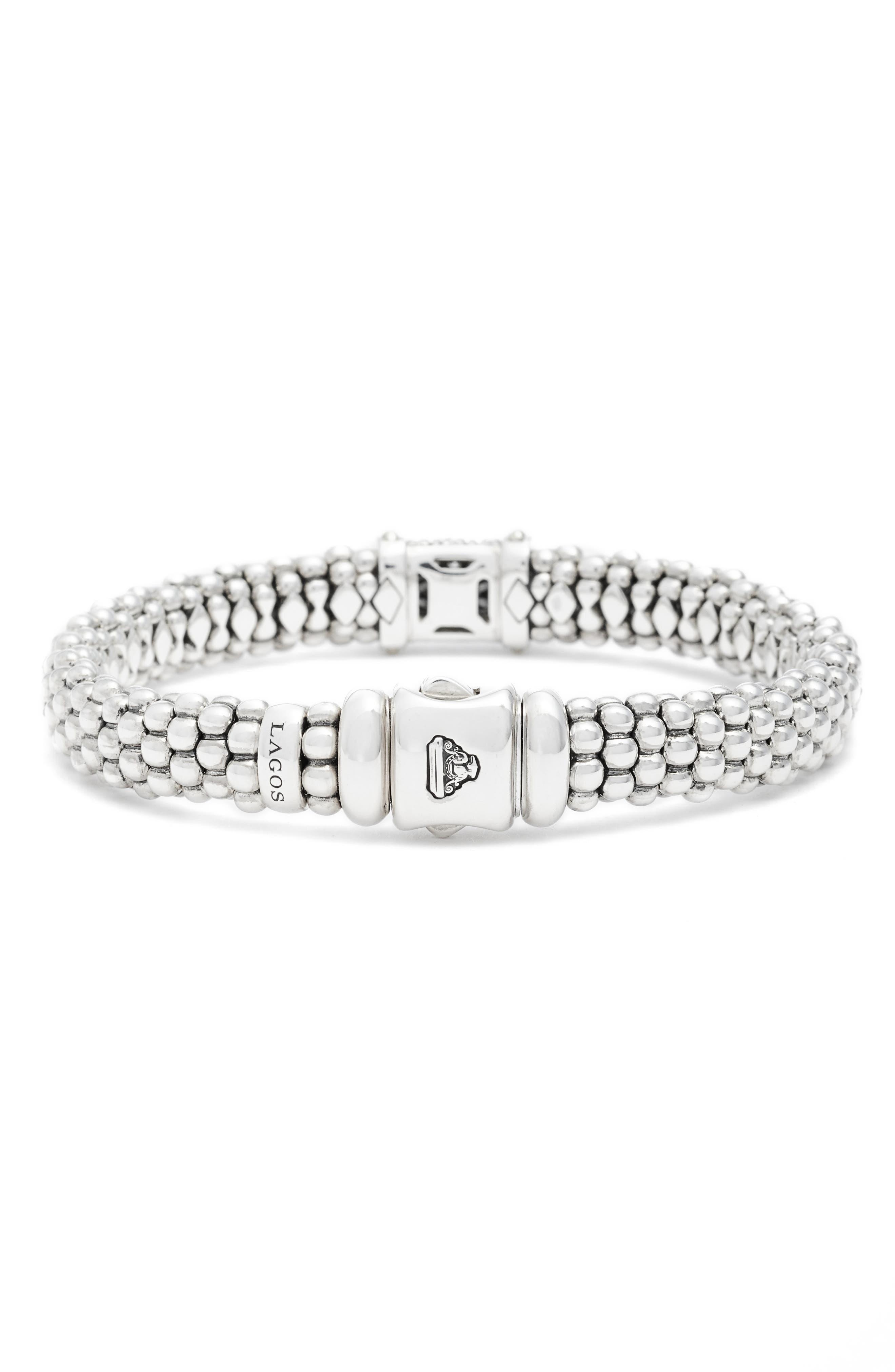 Alternate Image 2  - LAGOS Diamond & Caviar Square Bracelet
