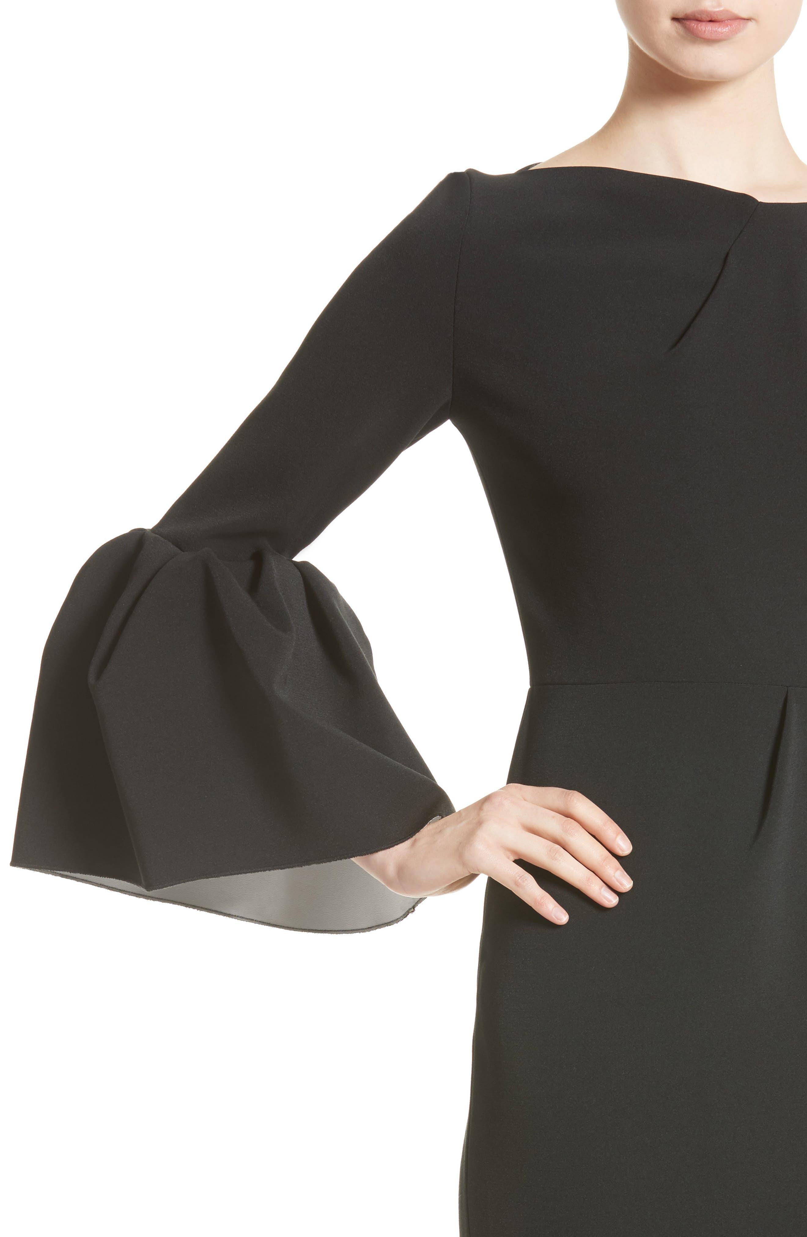 Margot Dress,                             Alternate thumbnail 7, color,                             Black/Ivory