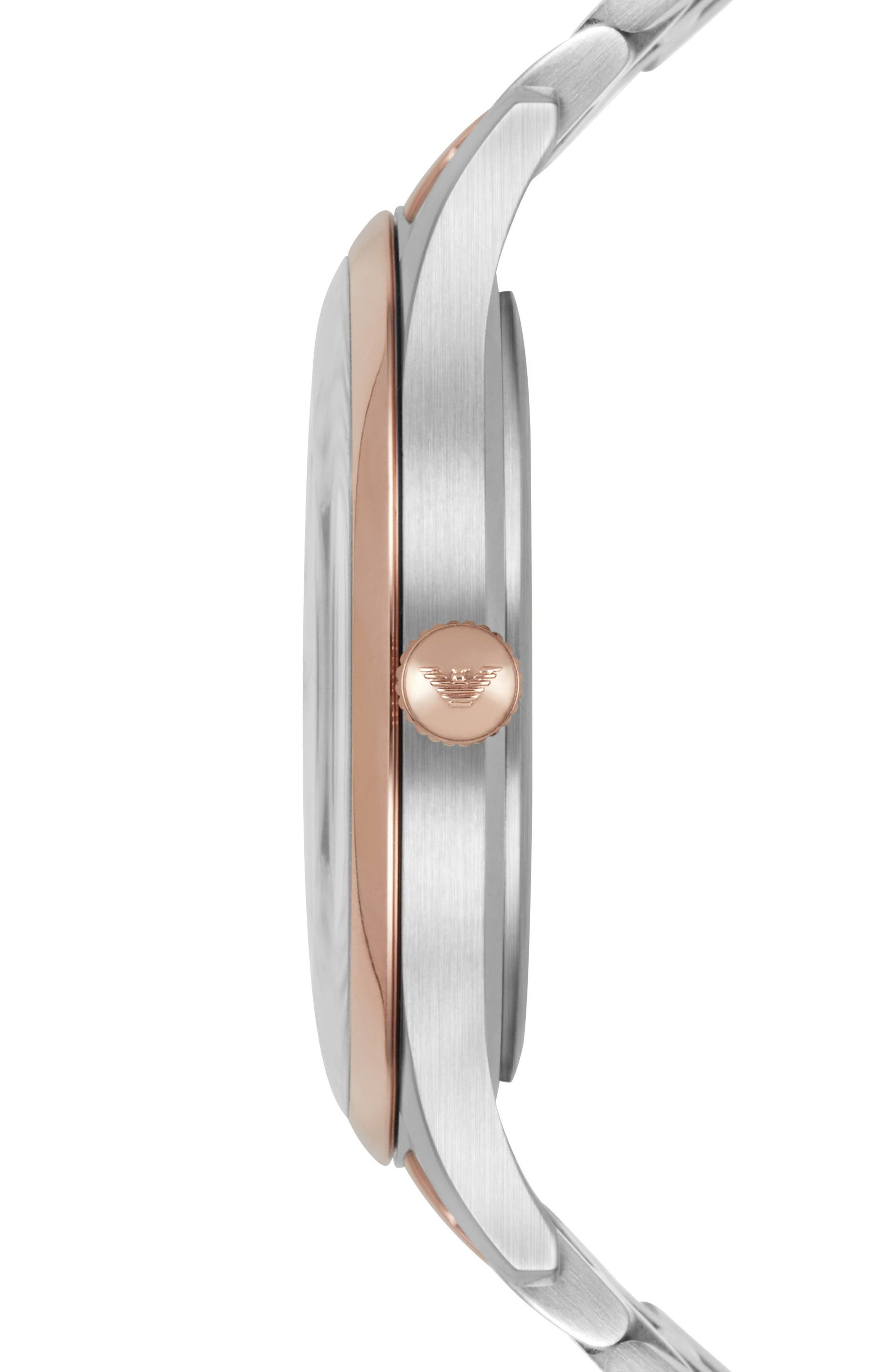Bracelet Watch, 43mm,                             Alternate thumbnail 2, color,                             Silver/ Silver