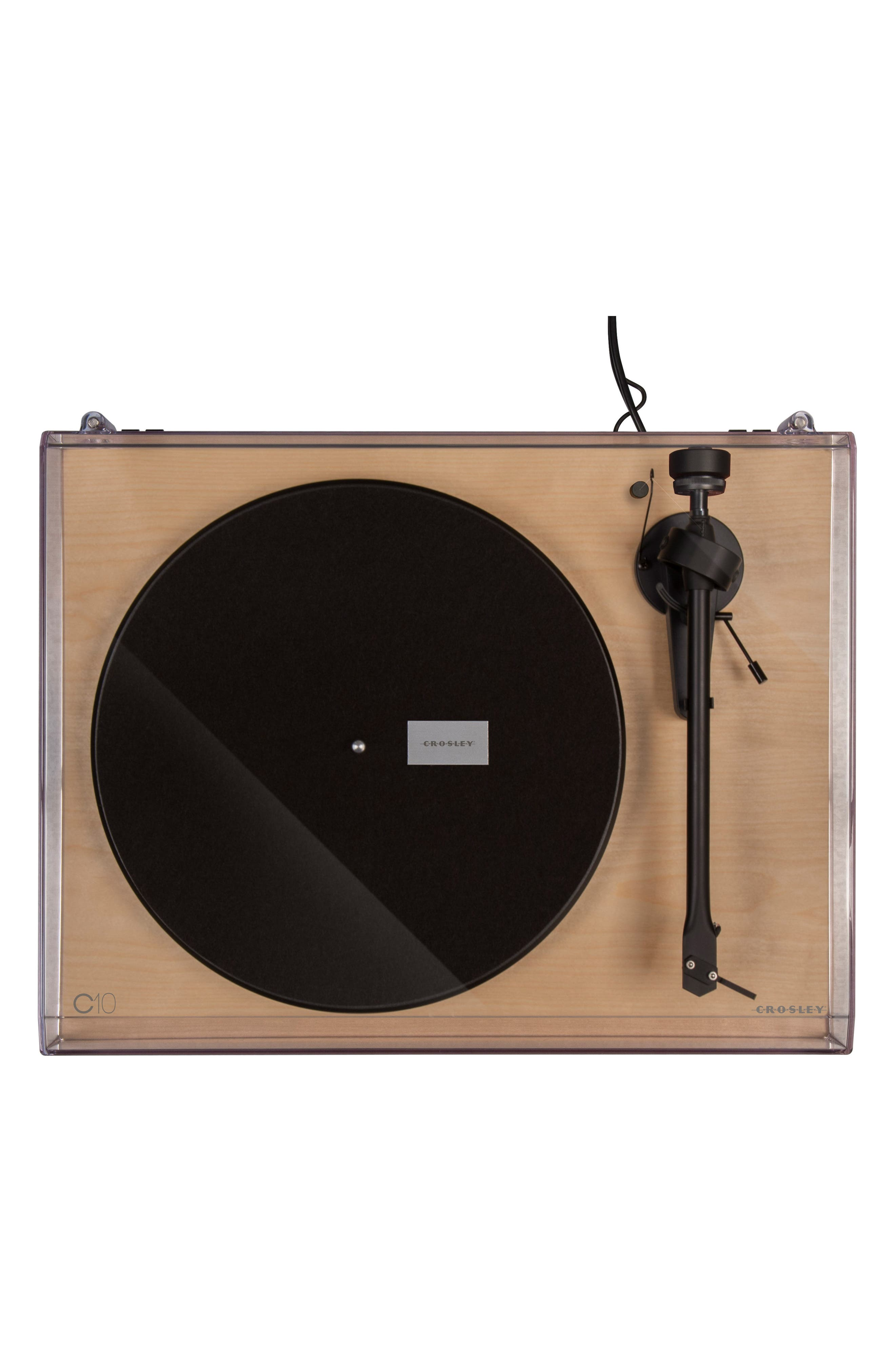 C10 Two-Speed Manual Turntable,                             Alternate thumbnail 4, color,                             Natural