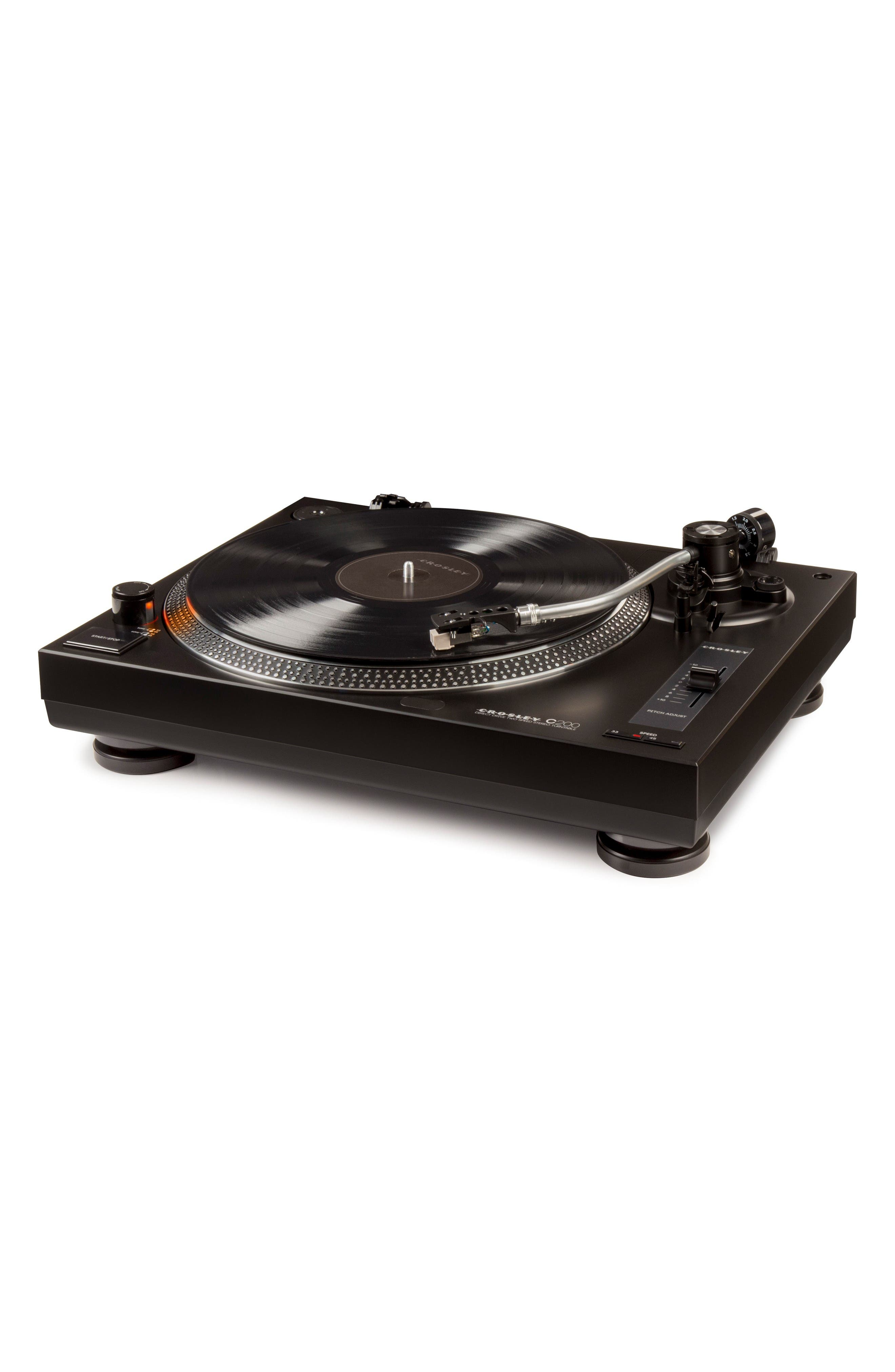 C200 Turntable,                             Alternate thumbnail 3, color,                             Black