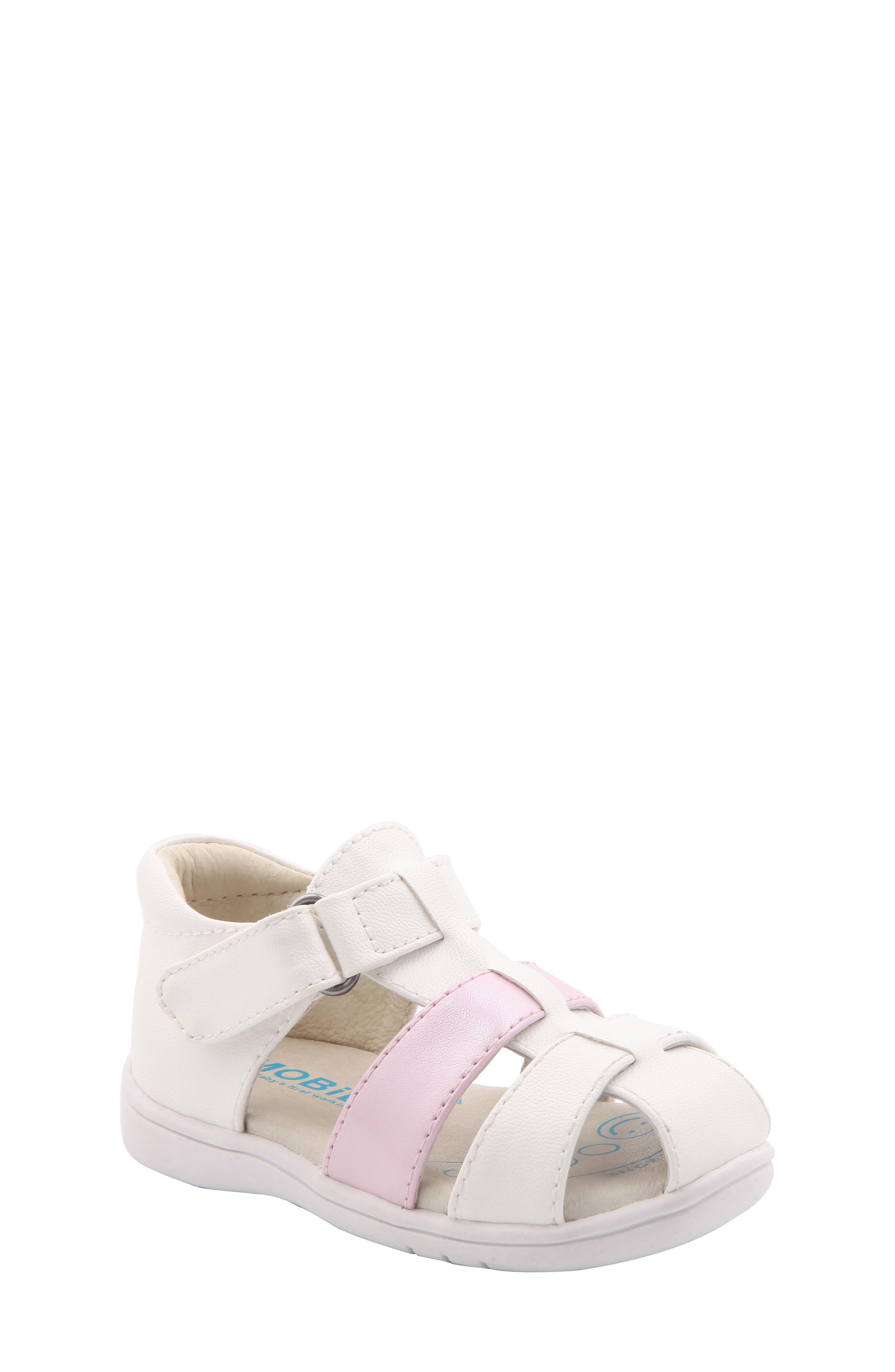 Gage Fisherman Sandal,                         Main,                         color, White Faux Leather