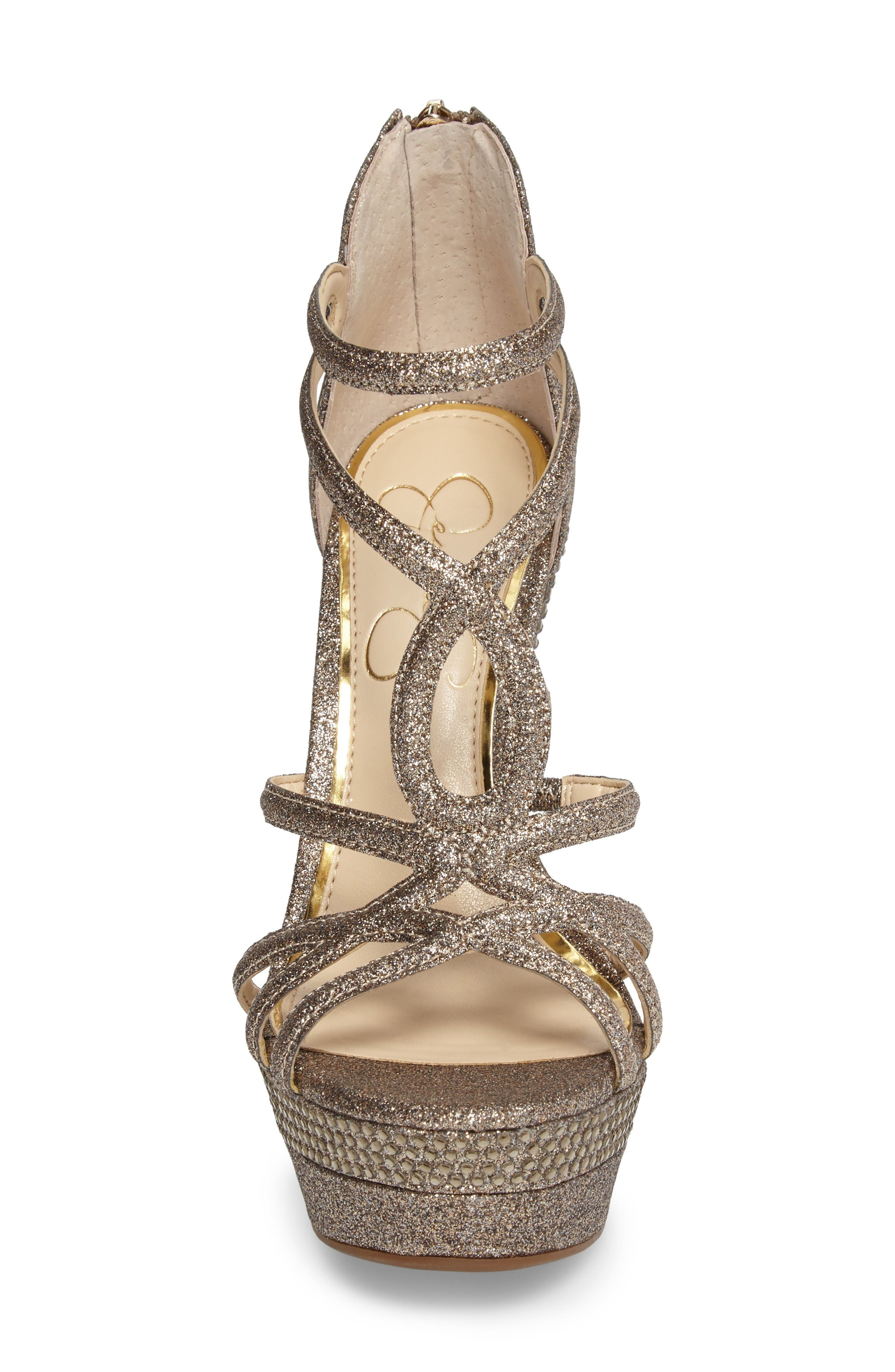 Rozmari Platform Sandal,                             Alternate thumbnail 4, color,                             Soft Gold