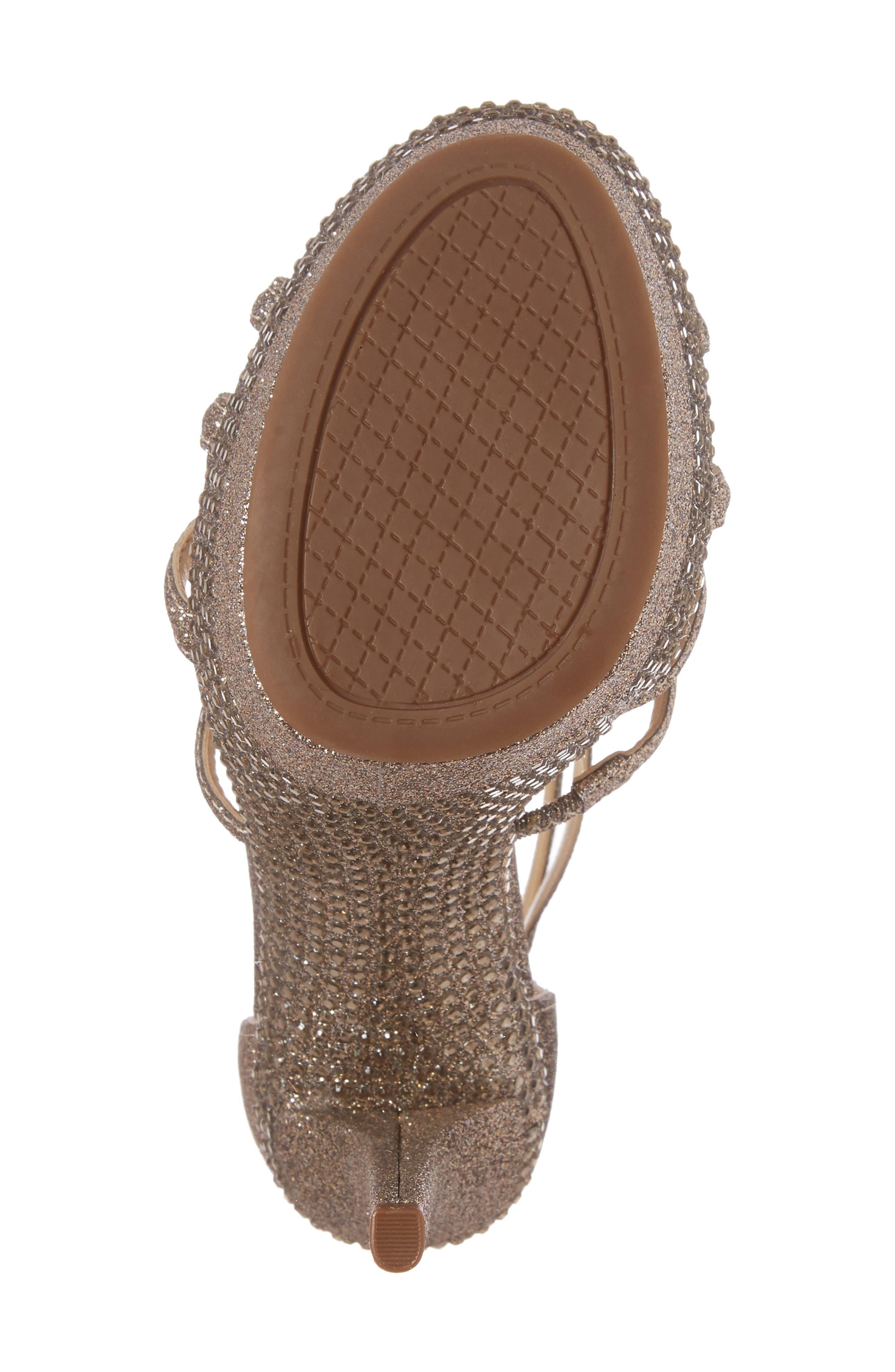 Rozmari Platform Sandal,                             Alternate thumbnail 6, color,                             Soft Gold