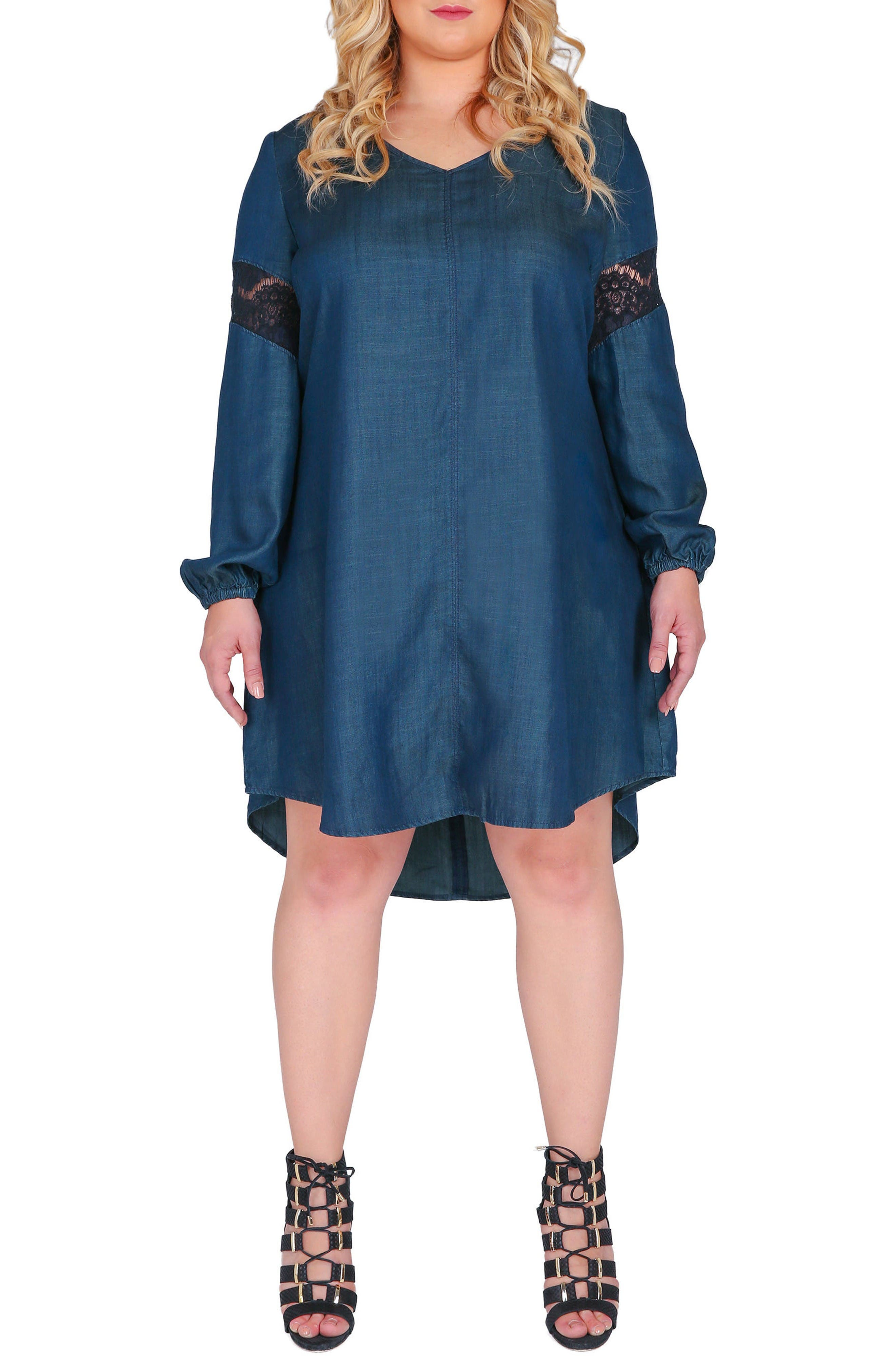 Alternate Image 1 Selected - Standards & Practices Shelby Shift Dress (Plus Size)