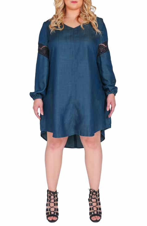 Standards & Practices Shelby Shift Dress (Plus Size)