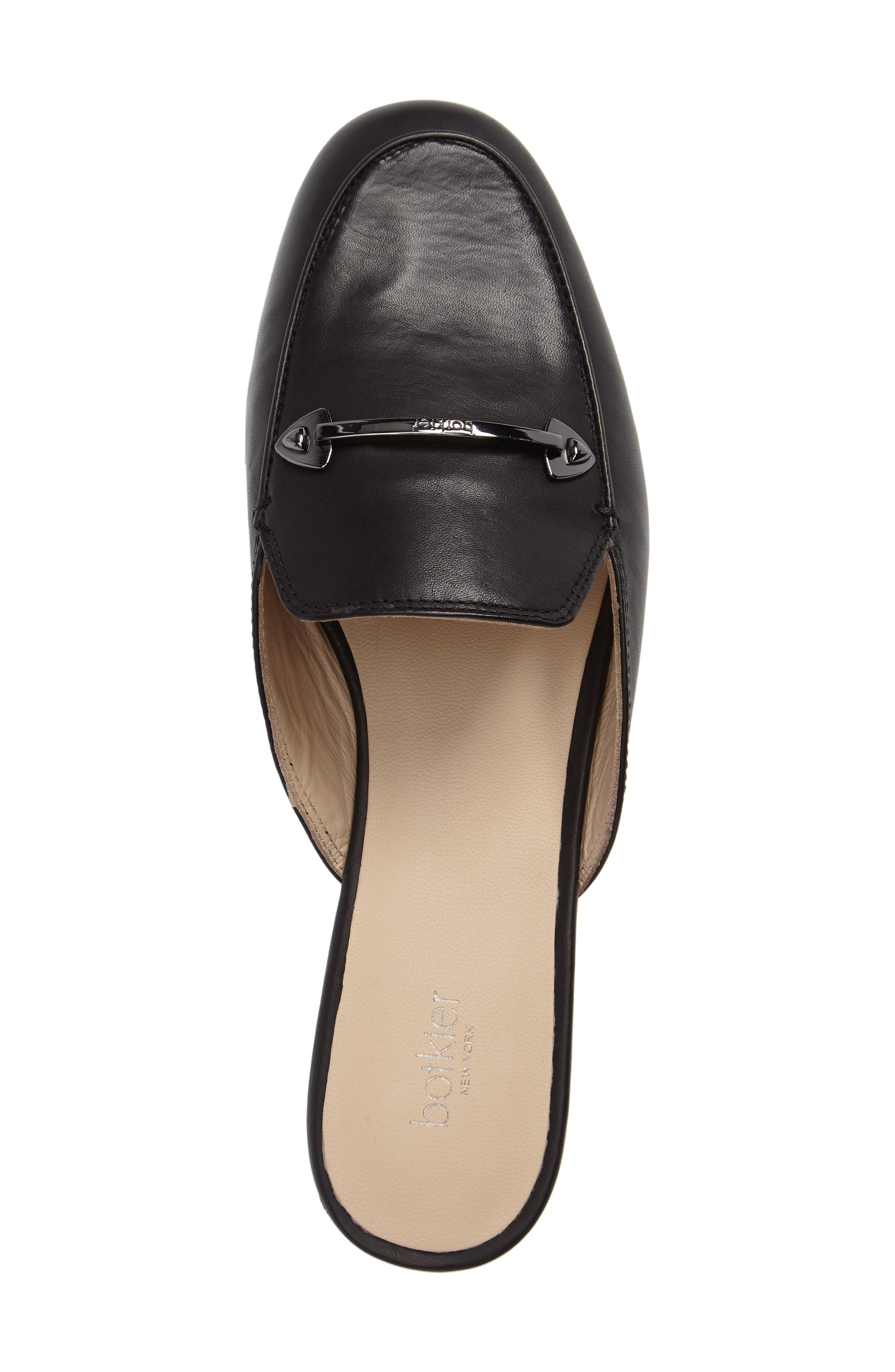 Clare Loafer Mule,                             Alternate thumbnail 5, color,                             Black
