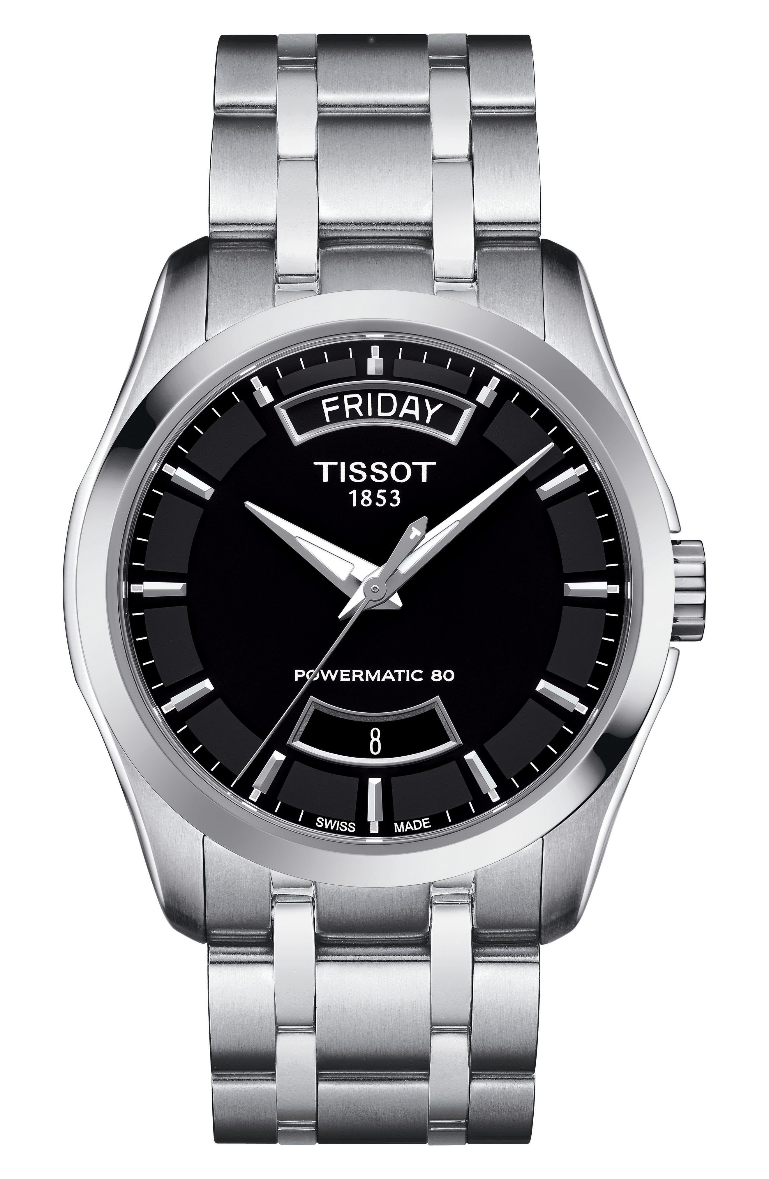 Couturier Automatic Bracelet Watch, 39mm,                         Main,                         color, Silver/ Black/ Silver