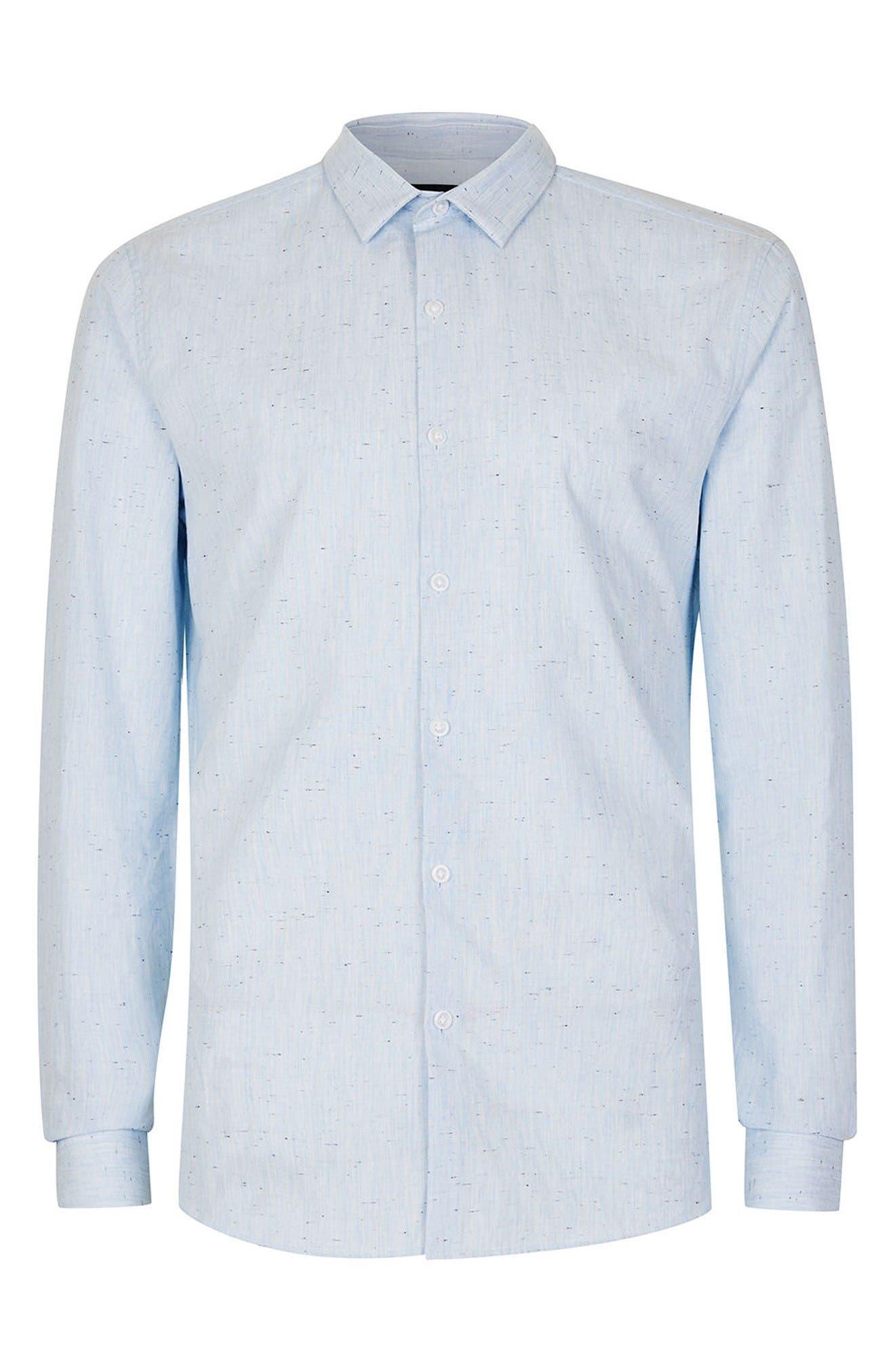 Alternate Image 7  - Topman Slim Fit Nep Shirt