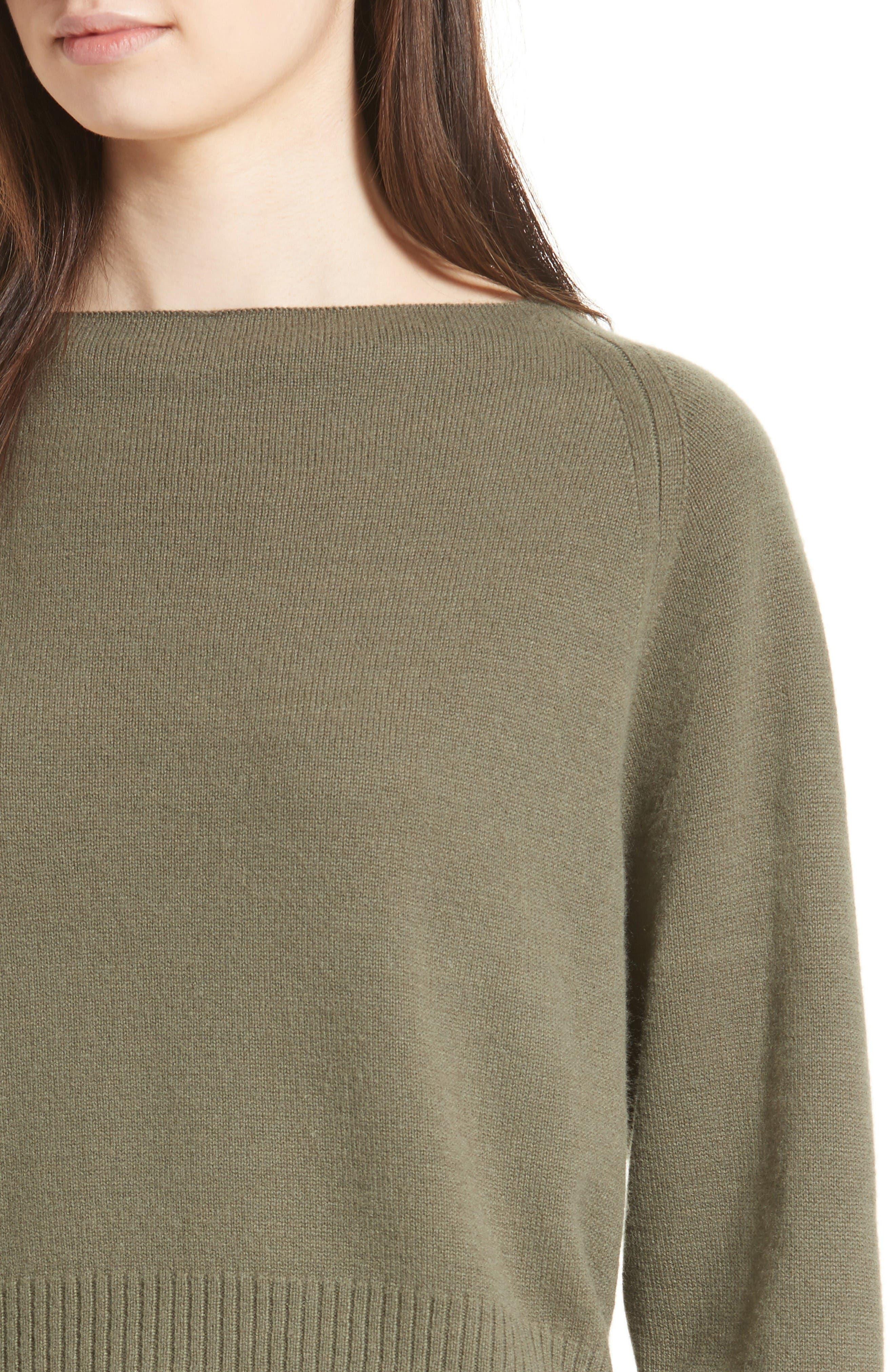 Alternate Image 4  - Vince Boat Neck Cashmere Sweater