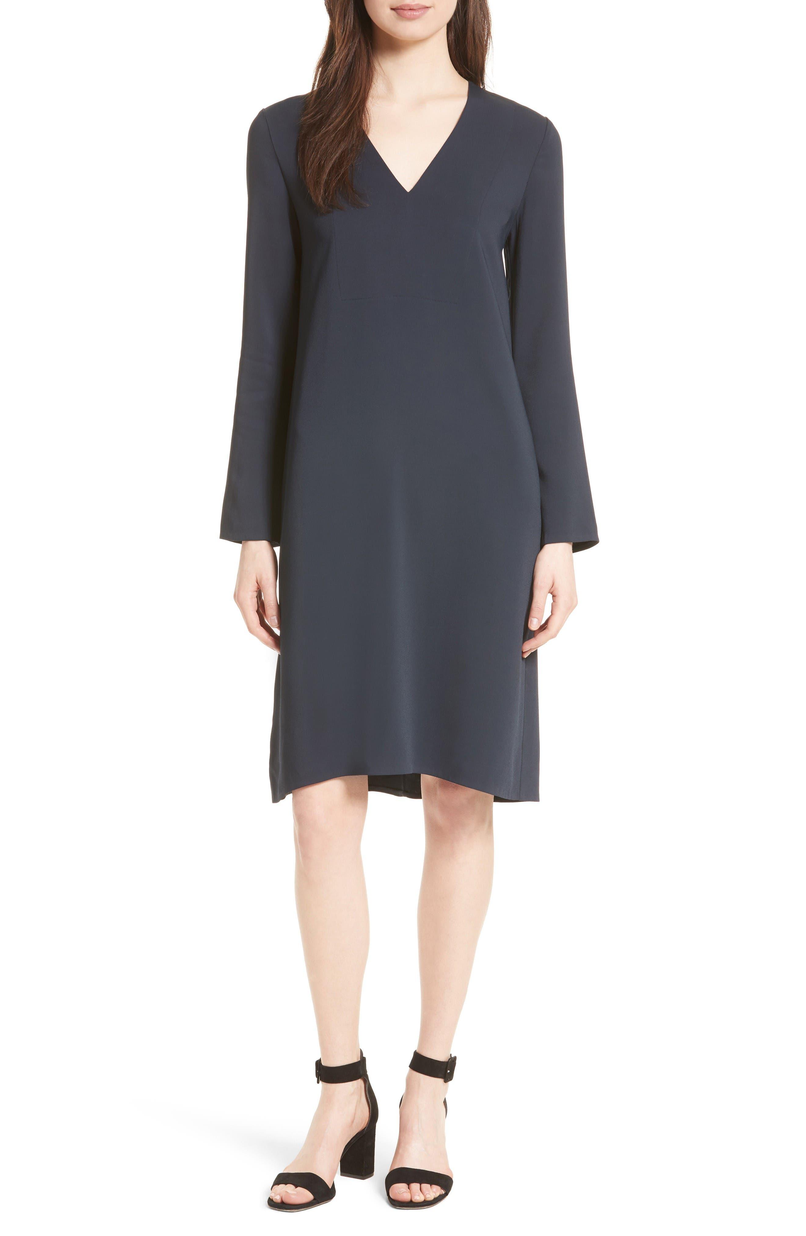 V-Neck Tunic Dress,                         Main,                         color, Coastal