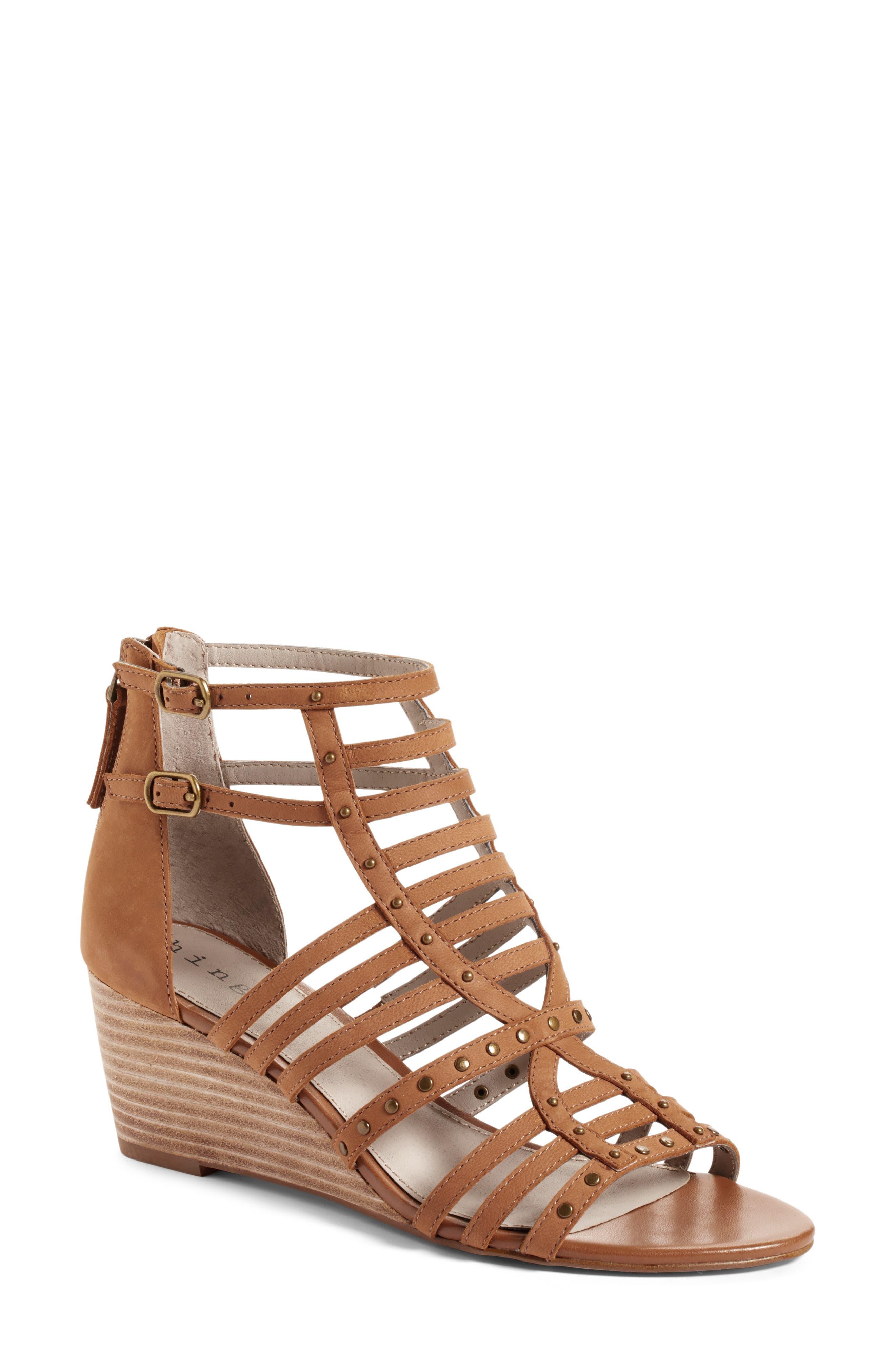 Alternate Image 1 Selected - Hinge Nolan Strappy Wedge Sandal (Women)