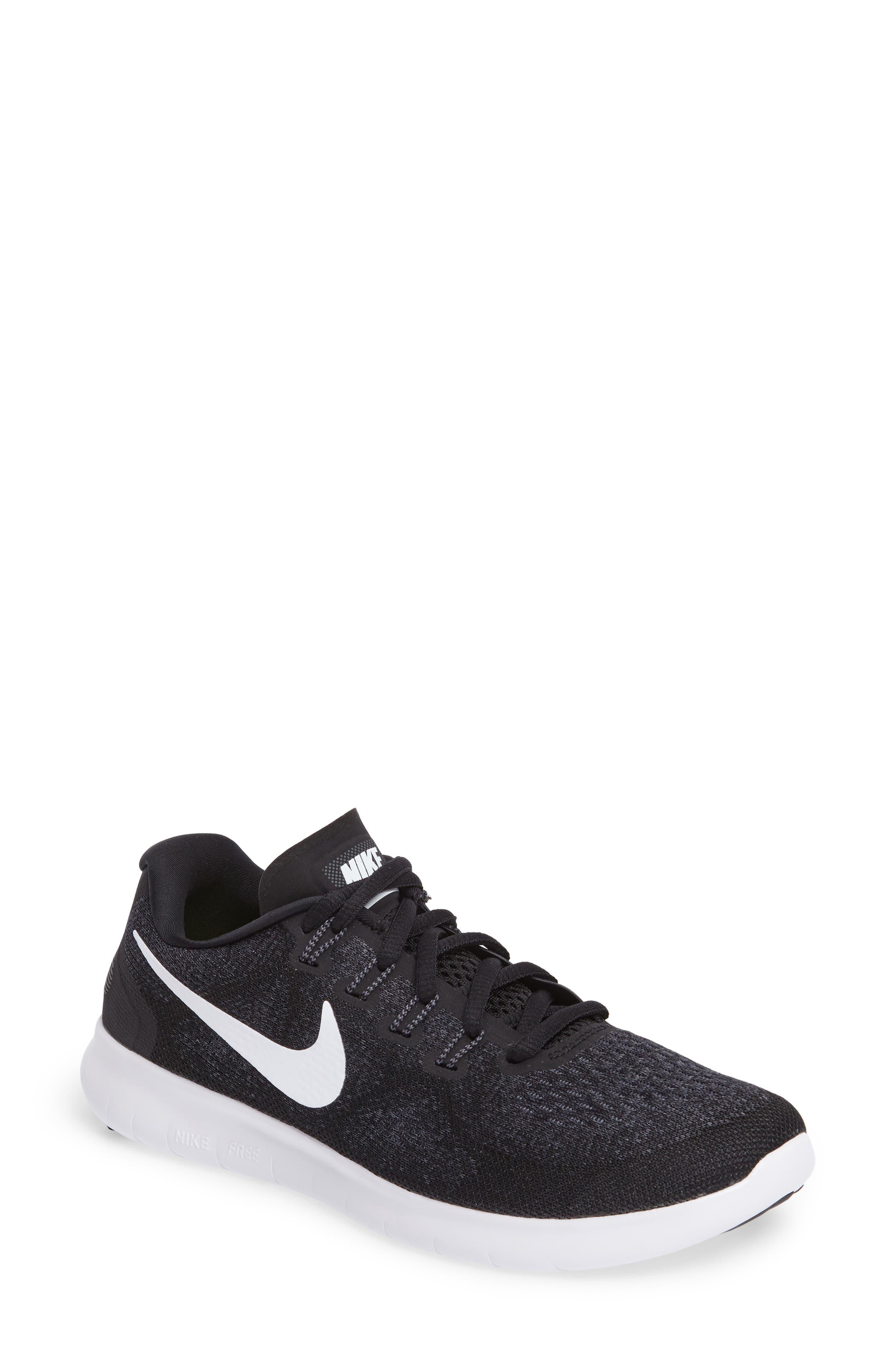 Free RN 2 Running Shoe,                             Main thumbnail 1, color,                             Black/ White/ Grey/ Anthracite