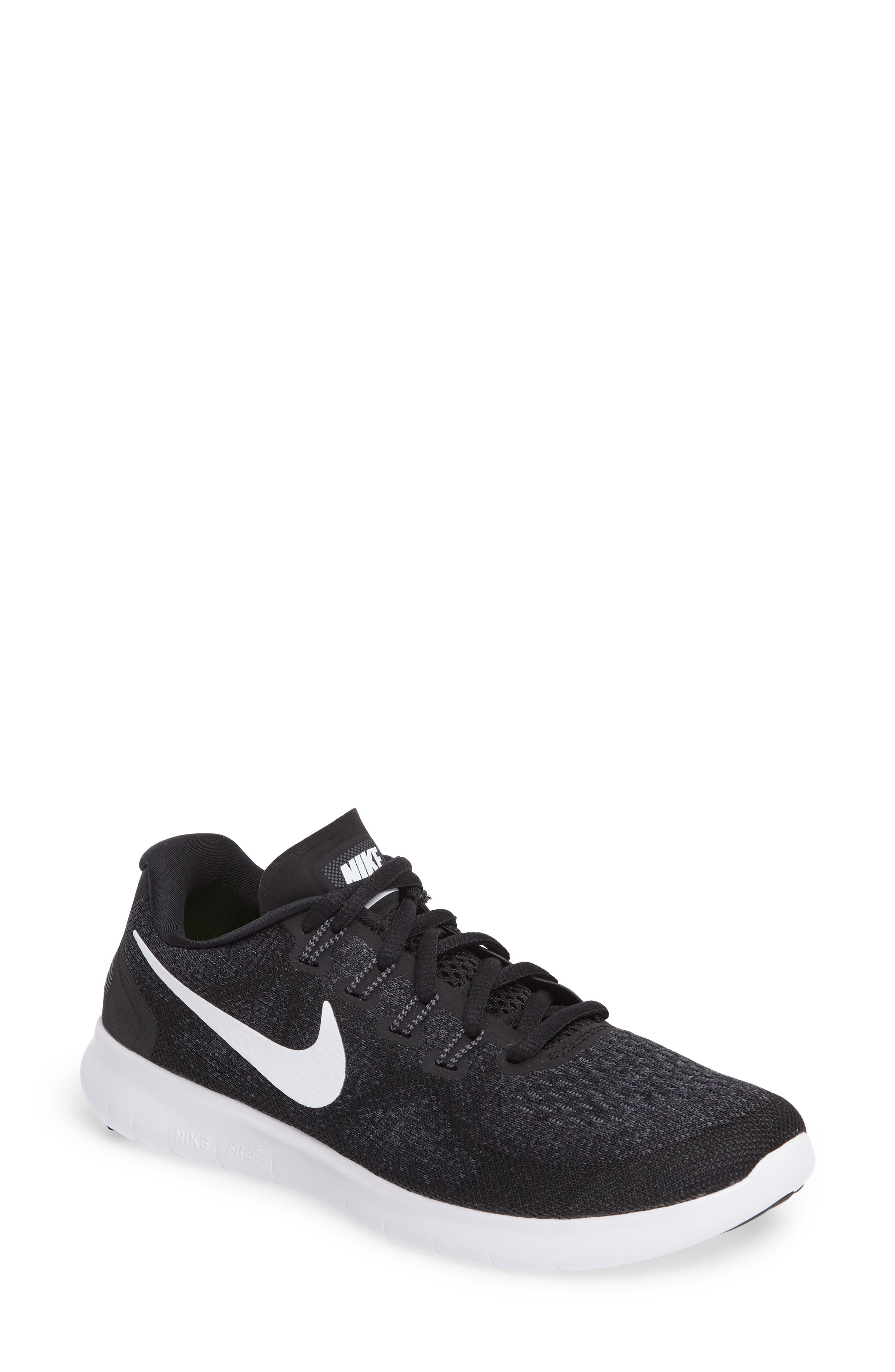 Free RN 2 Running Shoe,                         Main,                         color, Black/ White/ Grey/ Anthracite