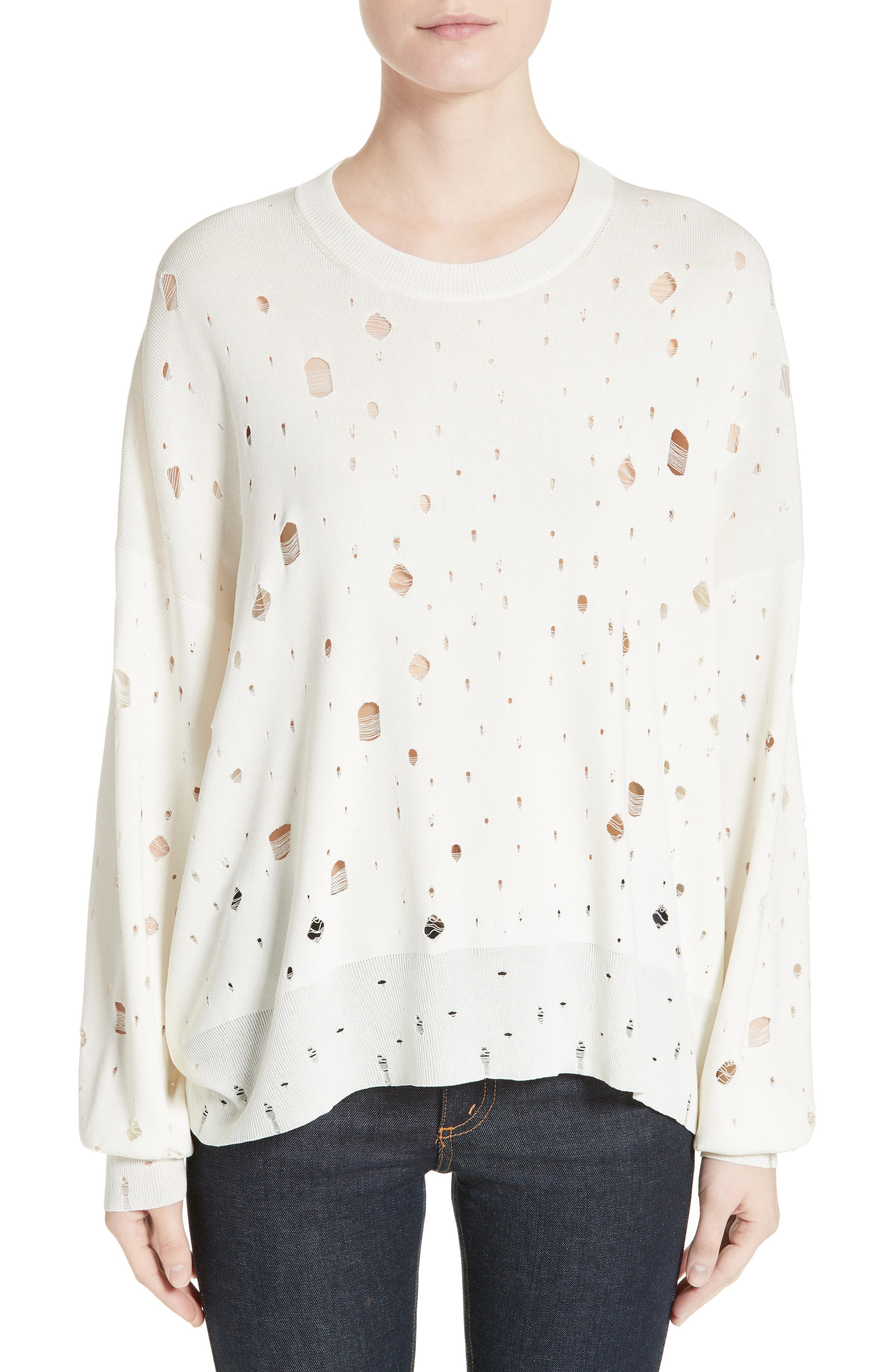 T by Alexander Wang Distressed Sweater