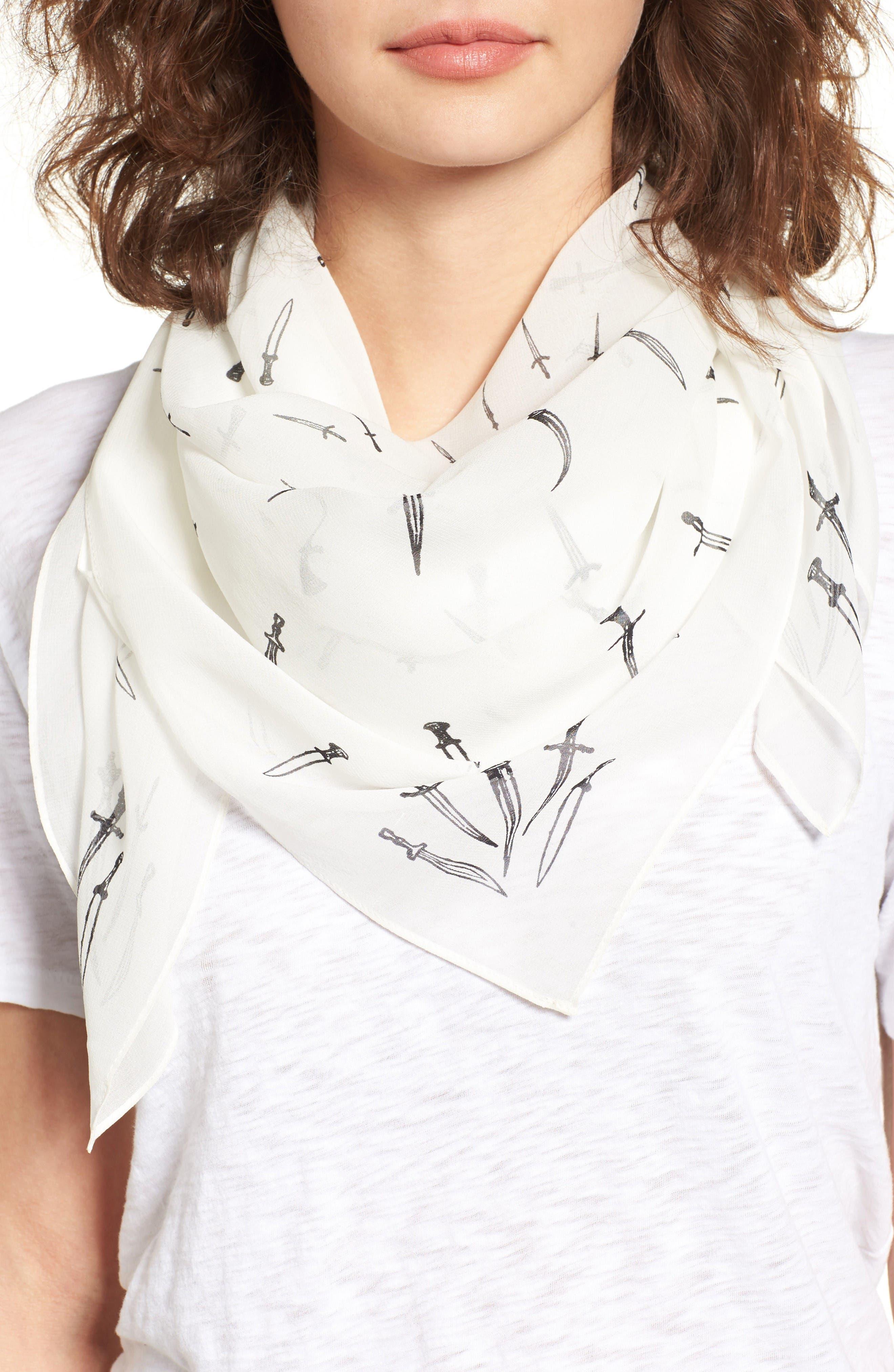 Main Image - rag & bone Dagger Print Silk Scarf