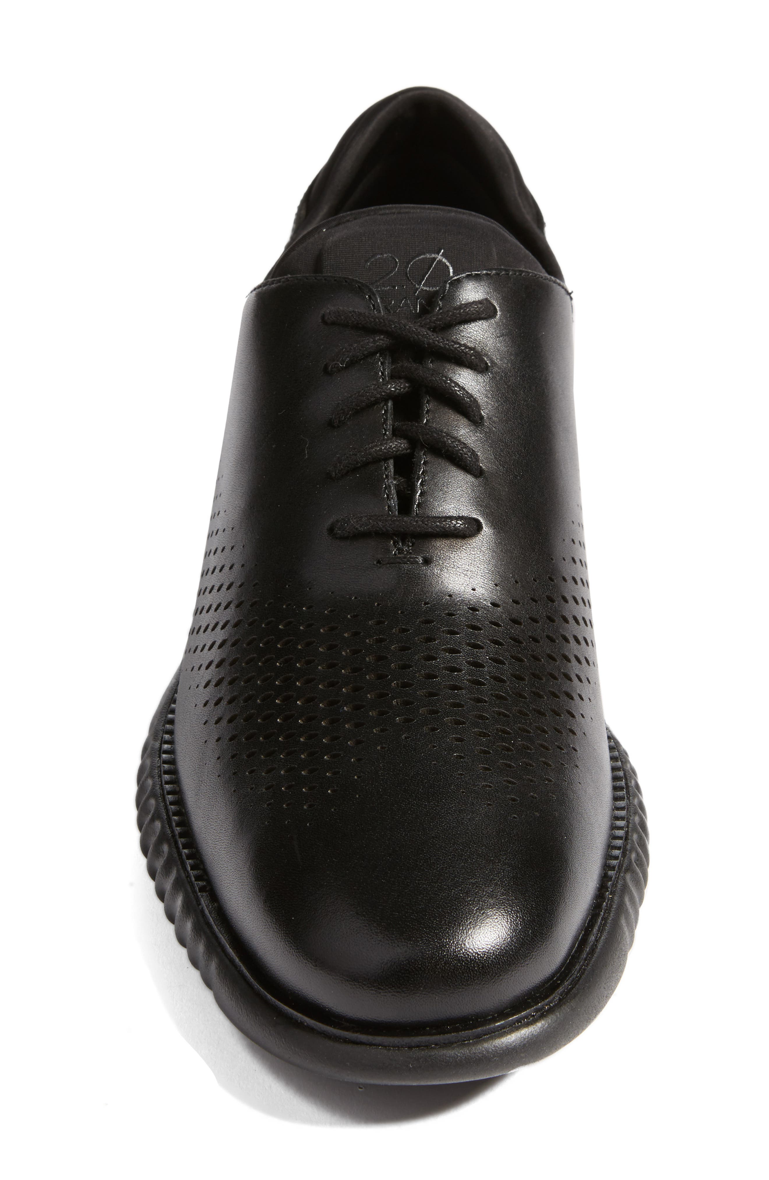 2.ZeroGrand Wingtip,                             Alternate thumbnail 4, color,                             Black Leather