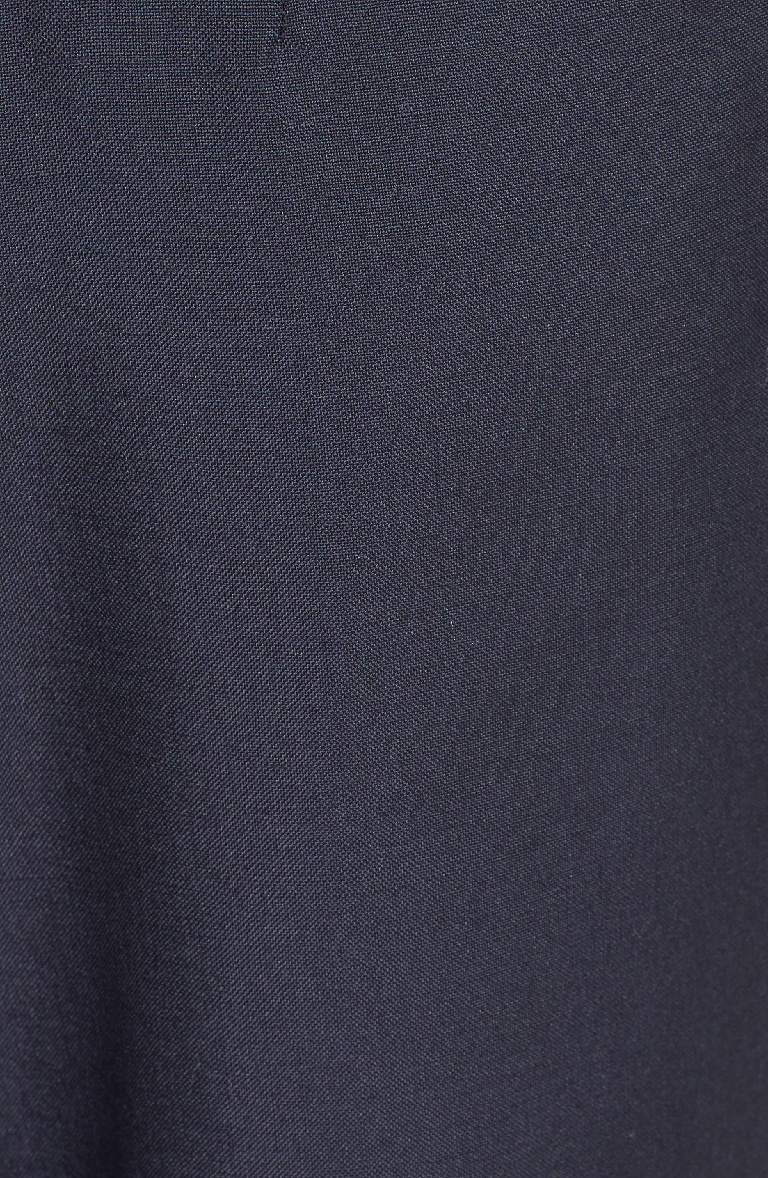 Tropical Wool & Kid Mohair Crop Pants,                             Alternate thumbnail 3, color,                             Navy