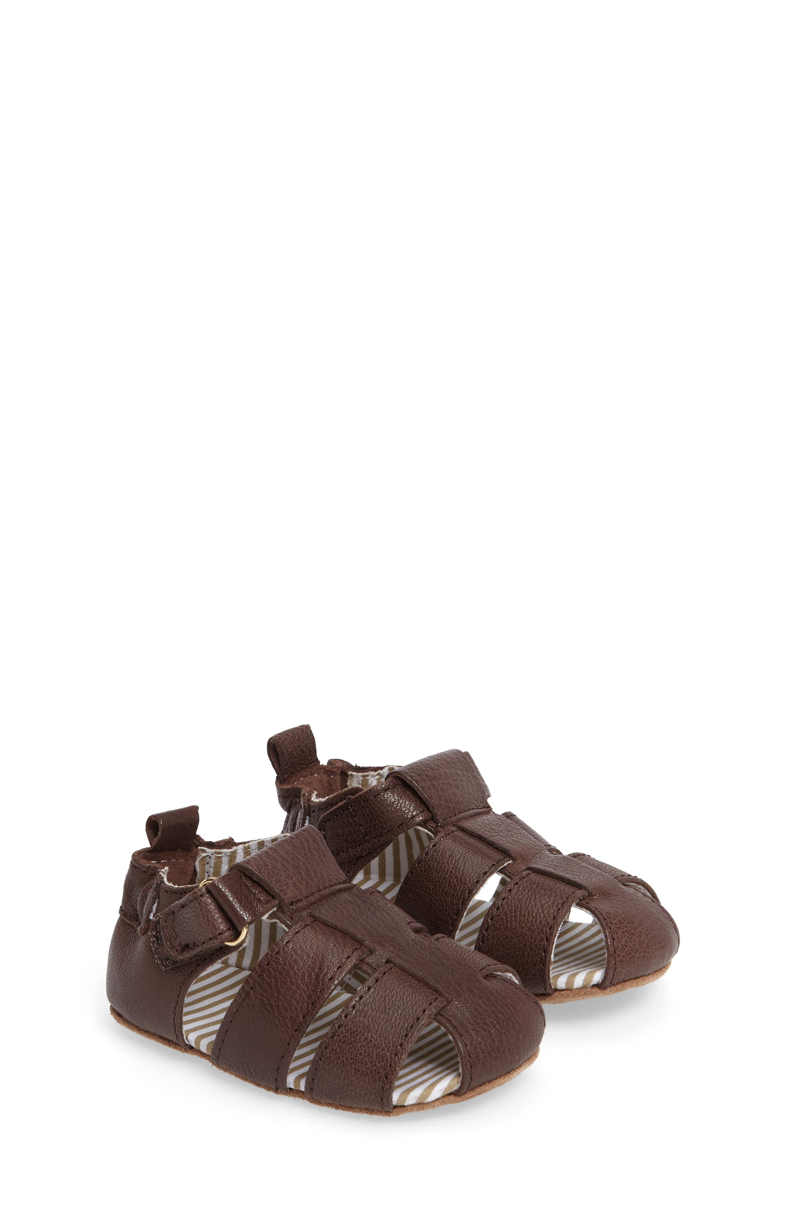Alternate Image 1 Selected - Robeez® Samuel Fisherman Sandal (Baby & Walker)